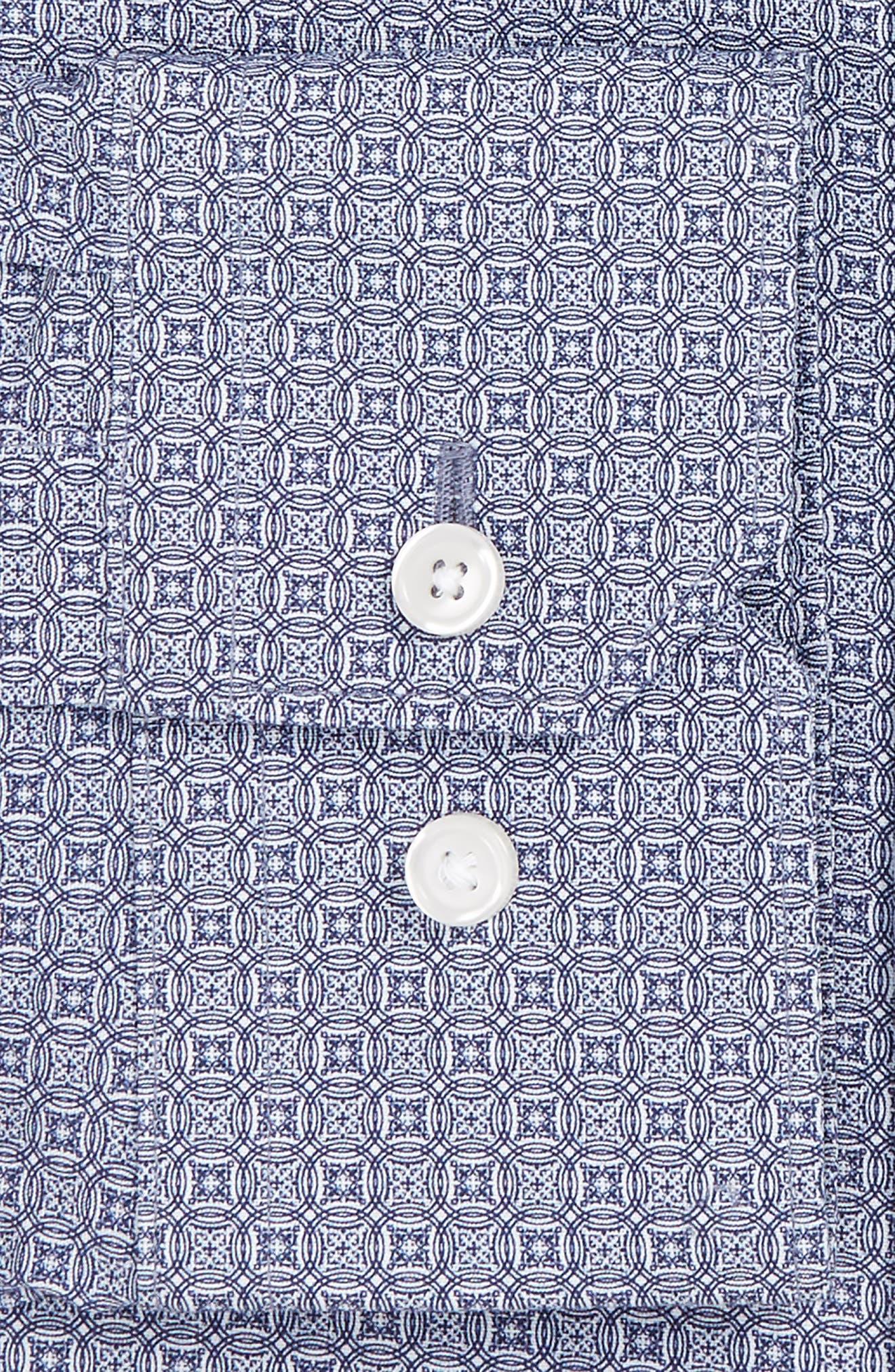 Extra Trim Fit Print Stretch Dress Shirt,                             Alternate thumbnail 3, color,                             410