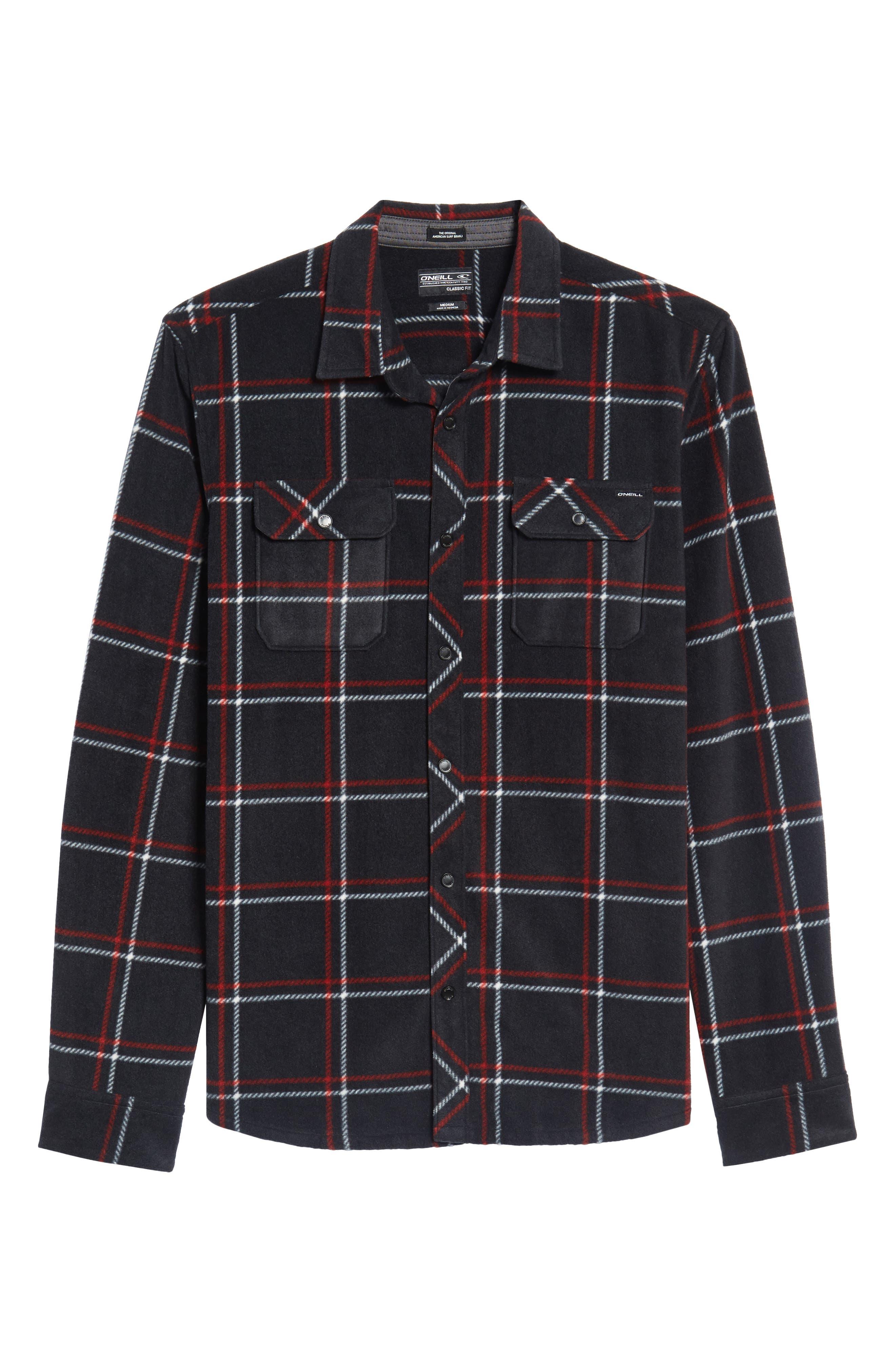 Glacier Plaid Fleece Flannel Shirt,                             Alternate thumbnail 27, color,