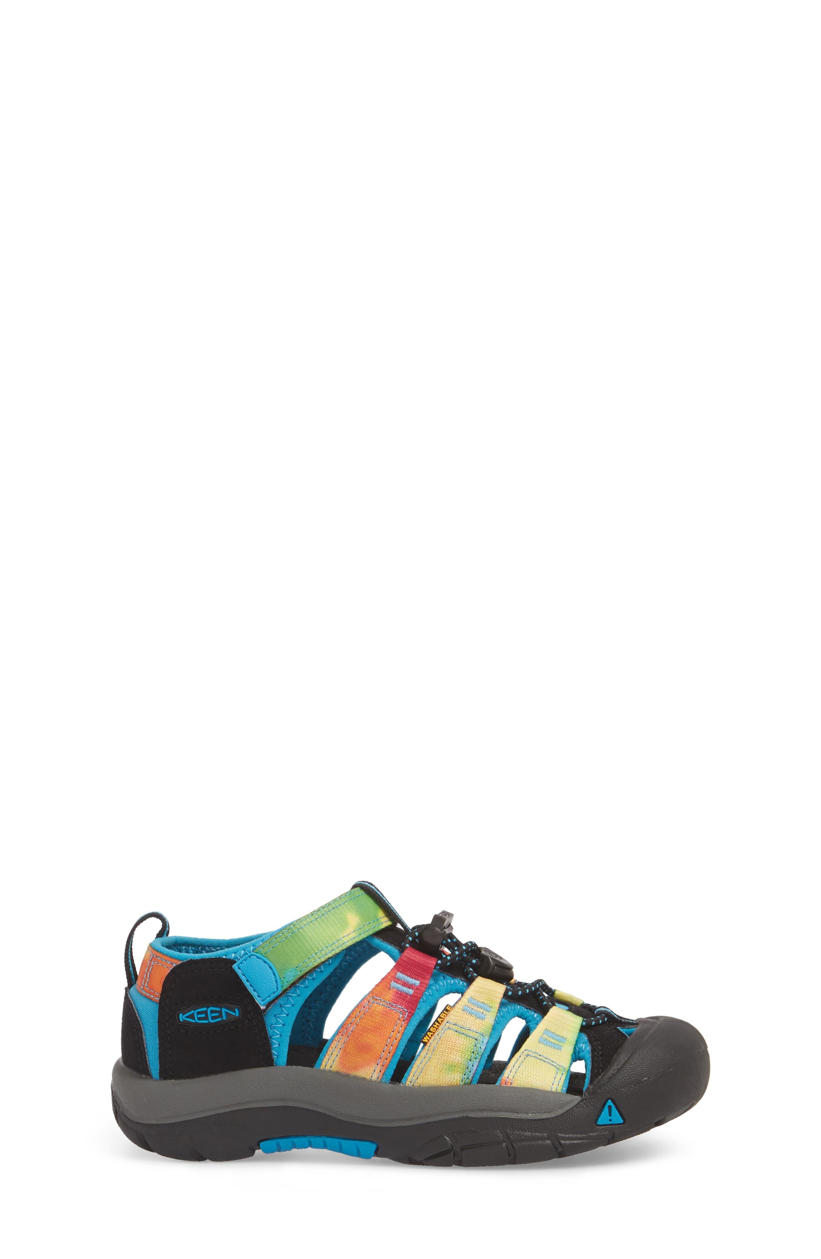 'Newport H2' Water Friendly Sandal,                             Alternate thumbnail 3, color,                             RAINBOW TIE DYE
