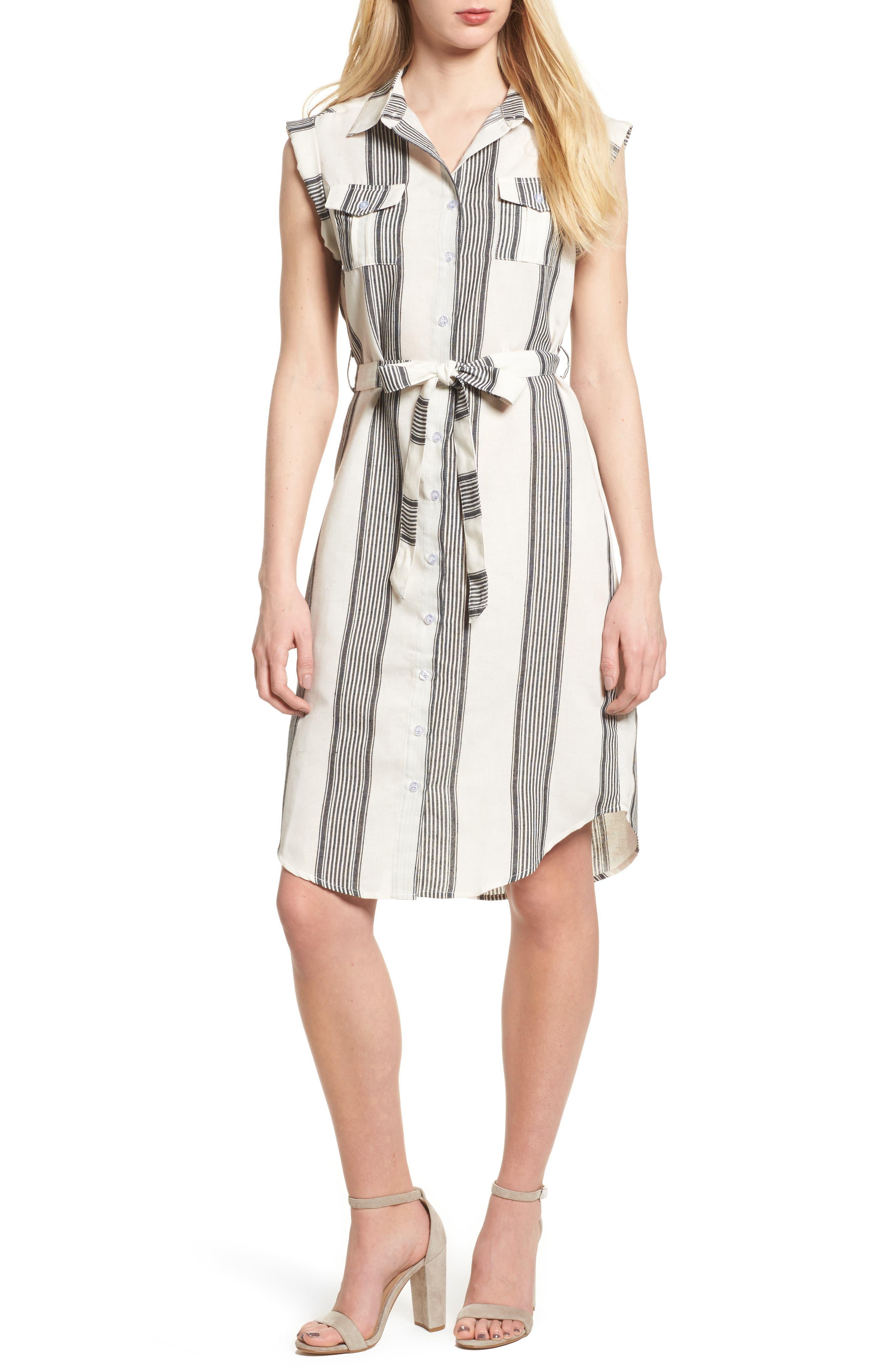 Bishop + Young Stripe Shirtdress,                         Main,                         color,