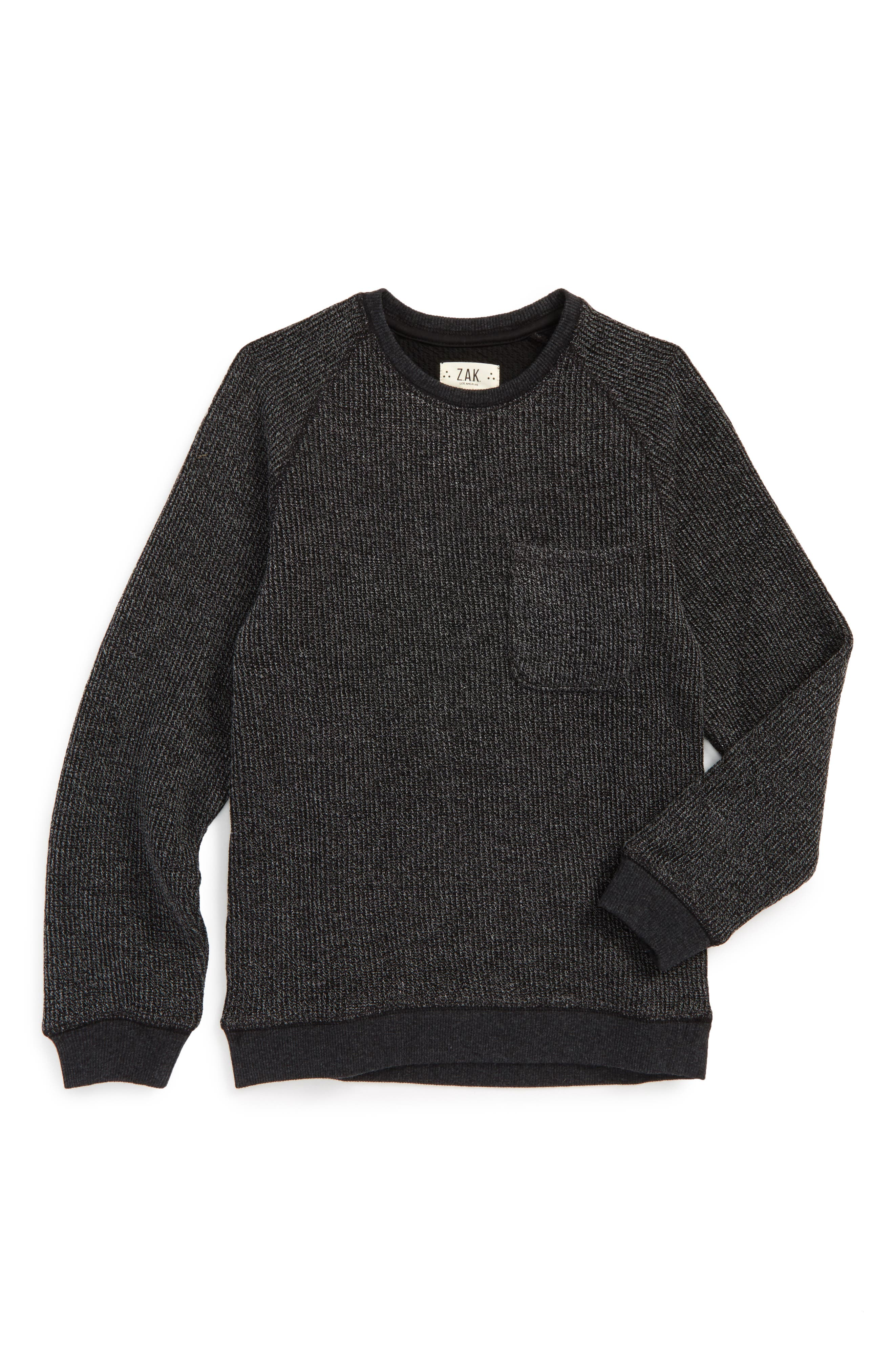 Raglan Pocket Sweater,                             Main thumbnail 1, color,                             001