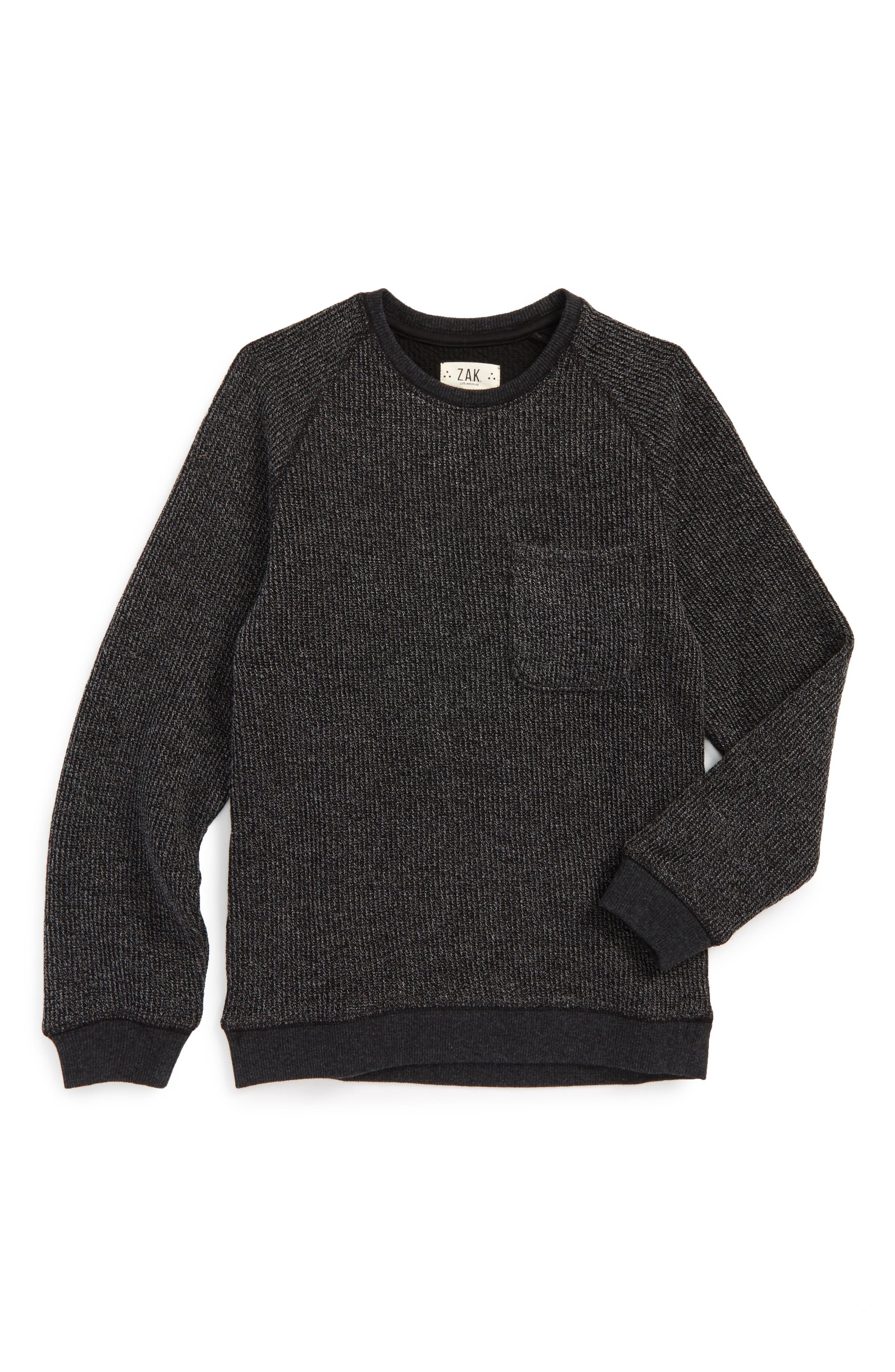 Raglan Pocket Sweater,                         Main,                         color, 001