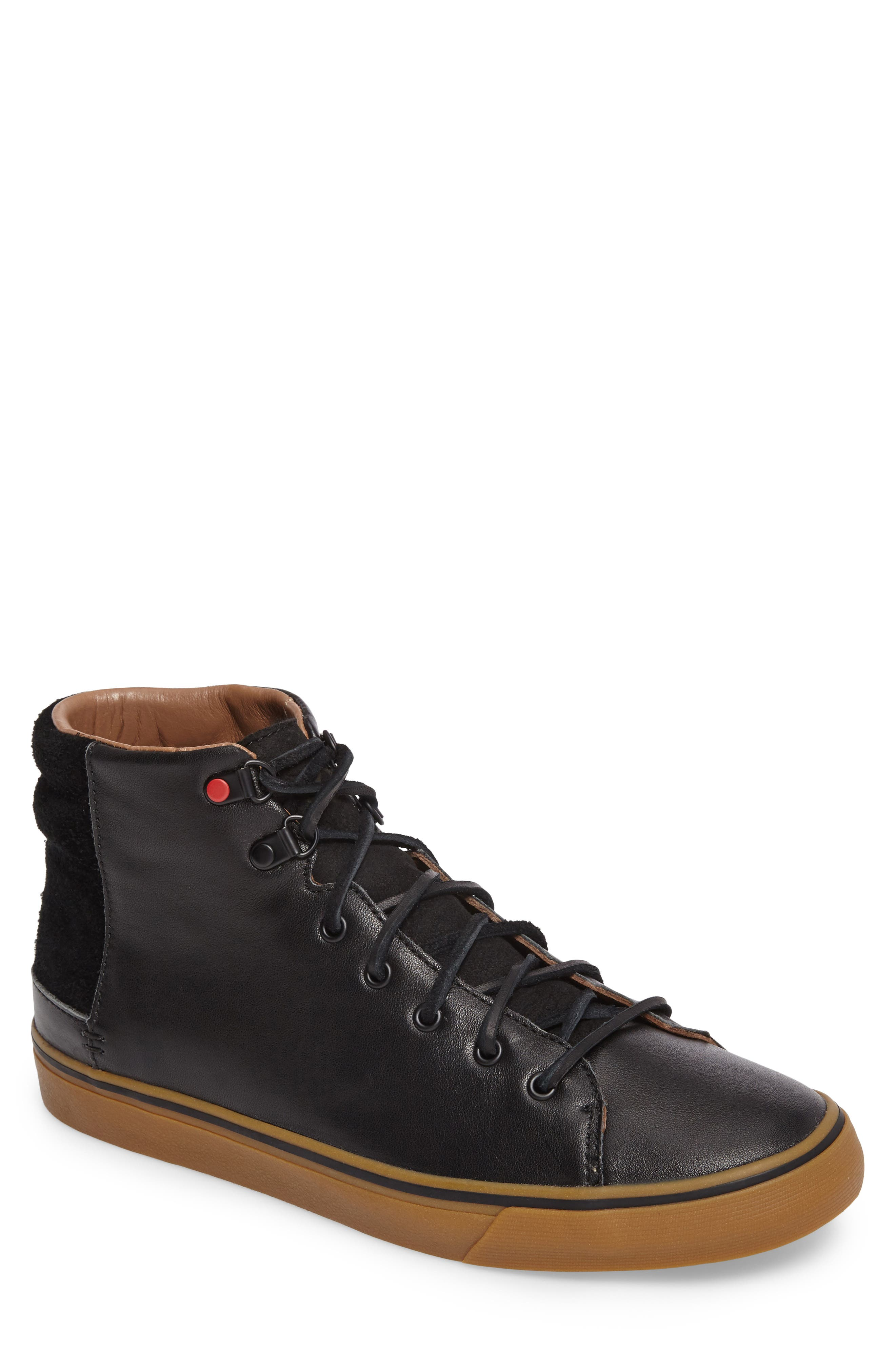 Hoyt Luxe Genuine Shearling High Top Sneaker,                         Main,                         color, 001
