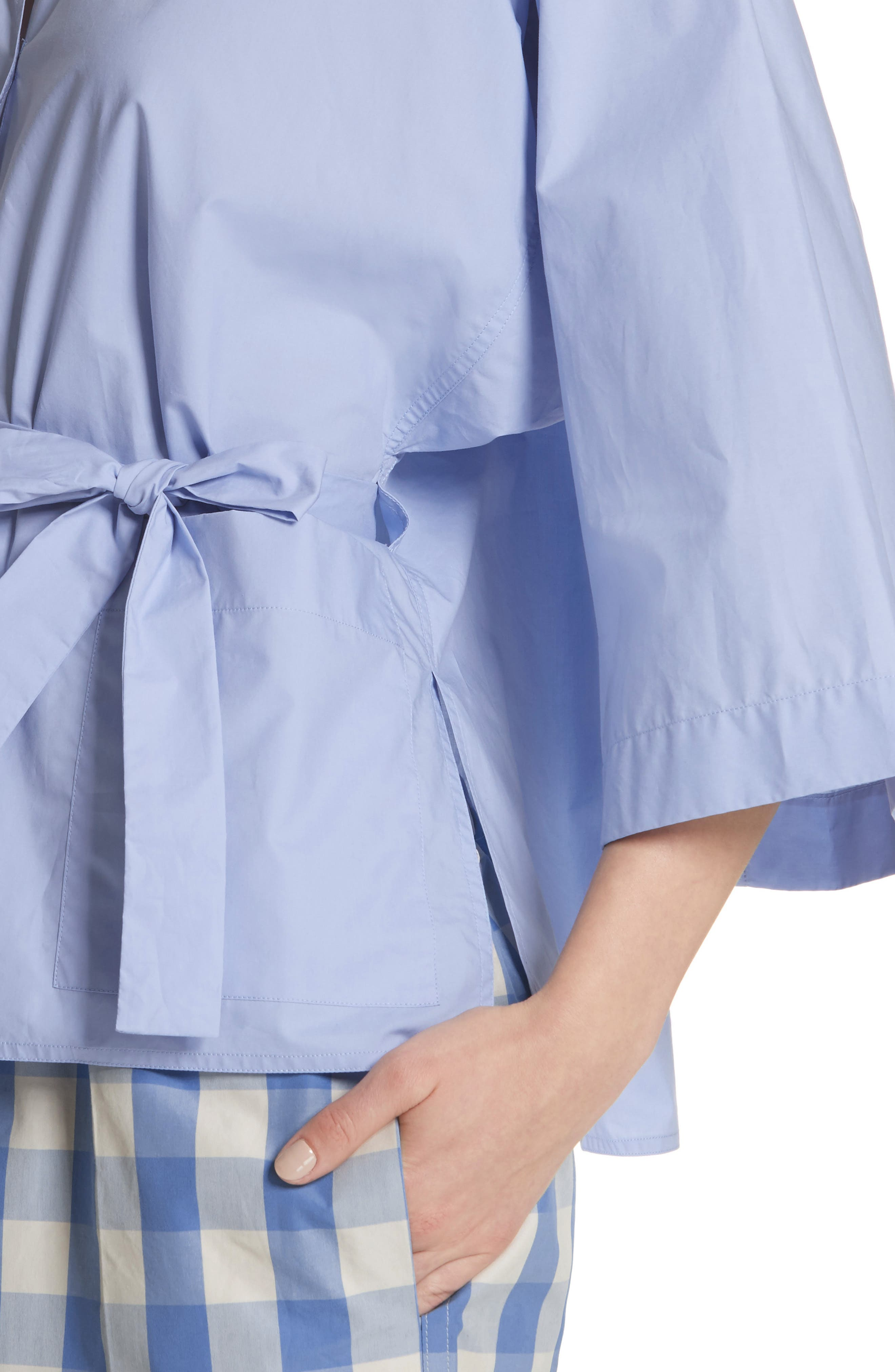 Belted Blouse,                             Alternate thumbnail 4, color,                             400