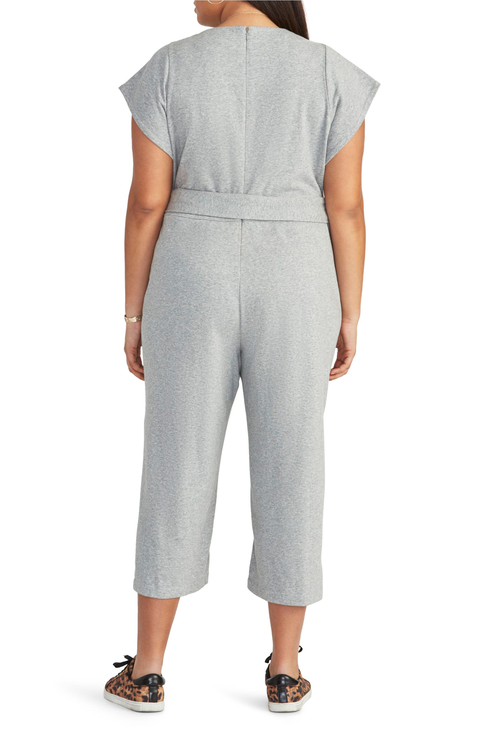 51e5fea60e12 RACHEL Rachel Roy Racquel Tie Front Crop Cotton Blend Jumpsuit (Plus Size)
