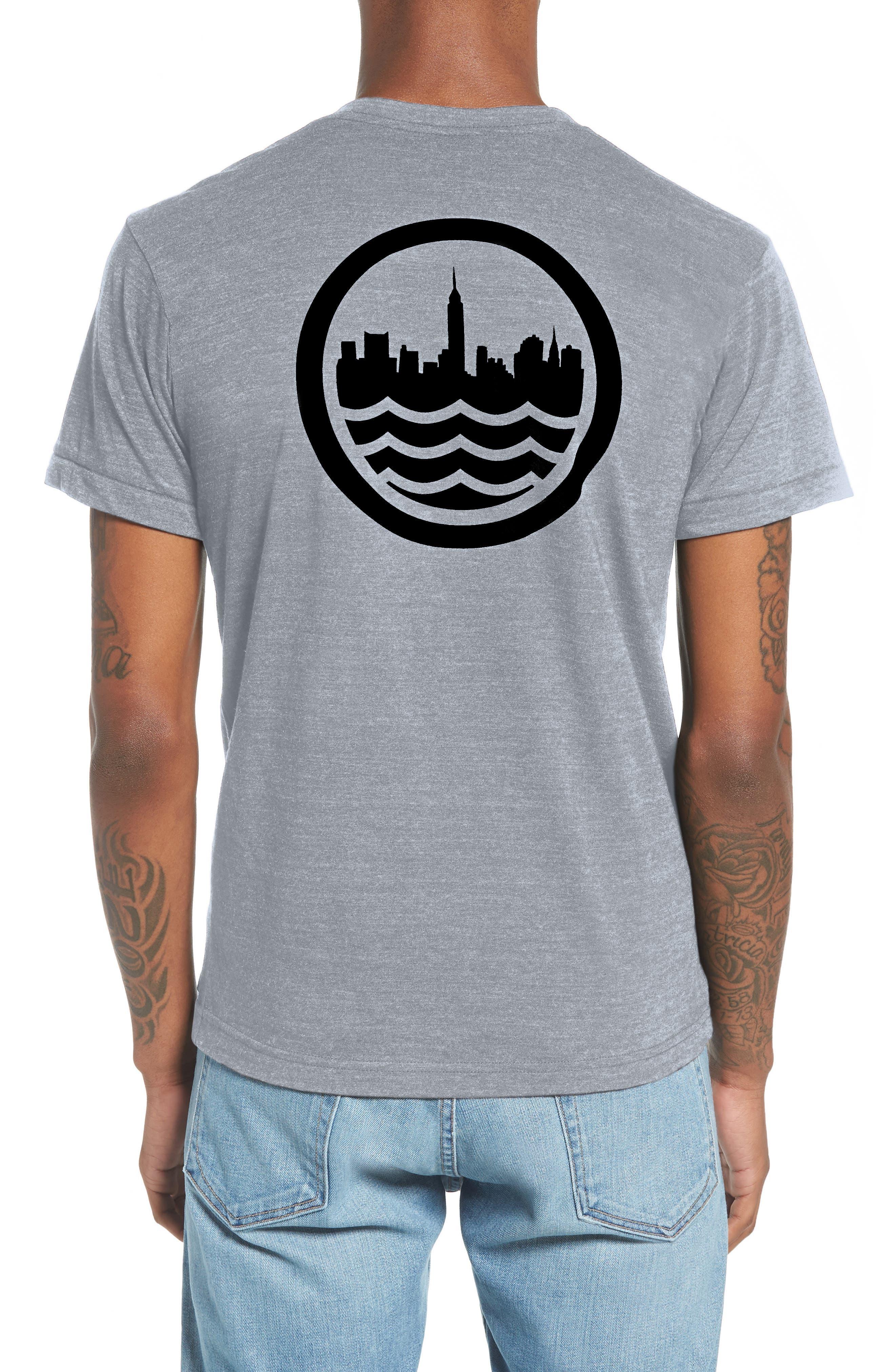 NYC Graphic T-Shirt,                             Alternate thumbnail 2, color,                             TRI BLAK