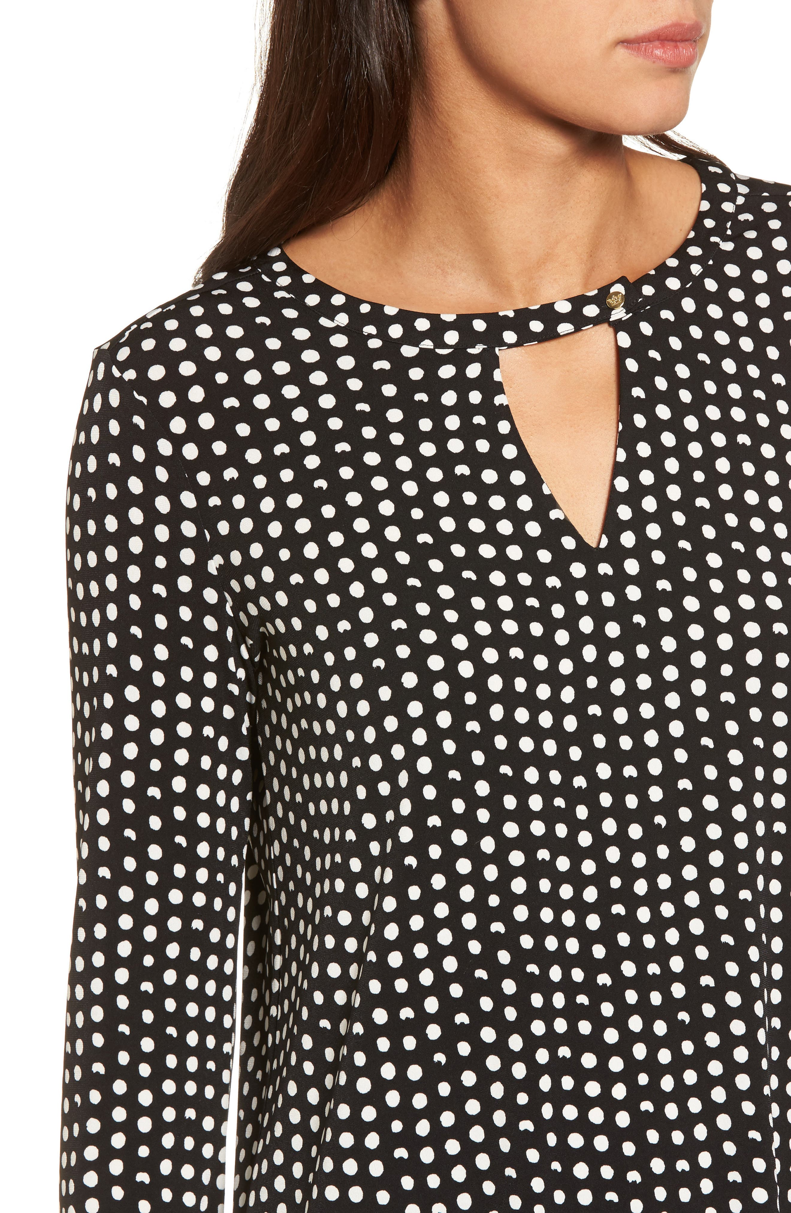 Polka Dot Matte Jersey Top,                             Alternate thumbnail 4, color,