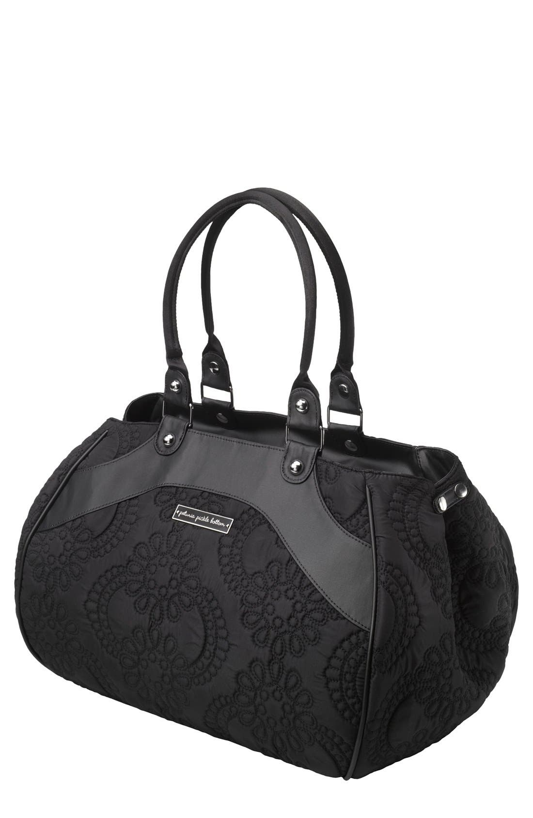 'Wistful Weekend' Embossed Diaper Bag,                             Main thumbnail 1, color,                             001
