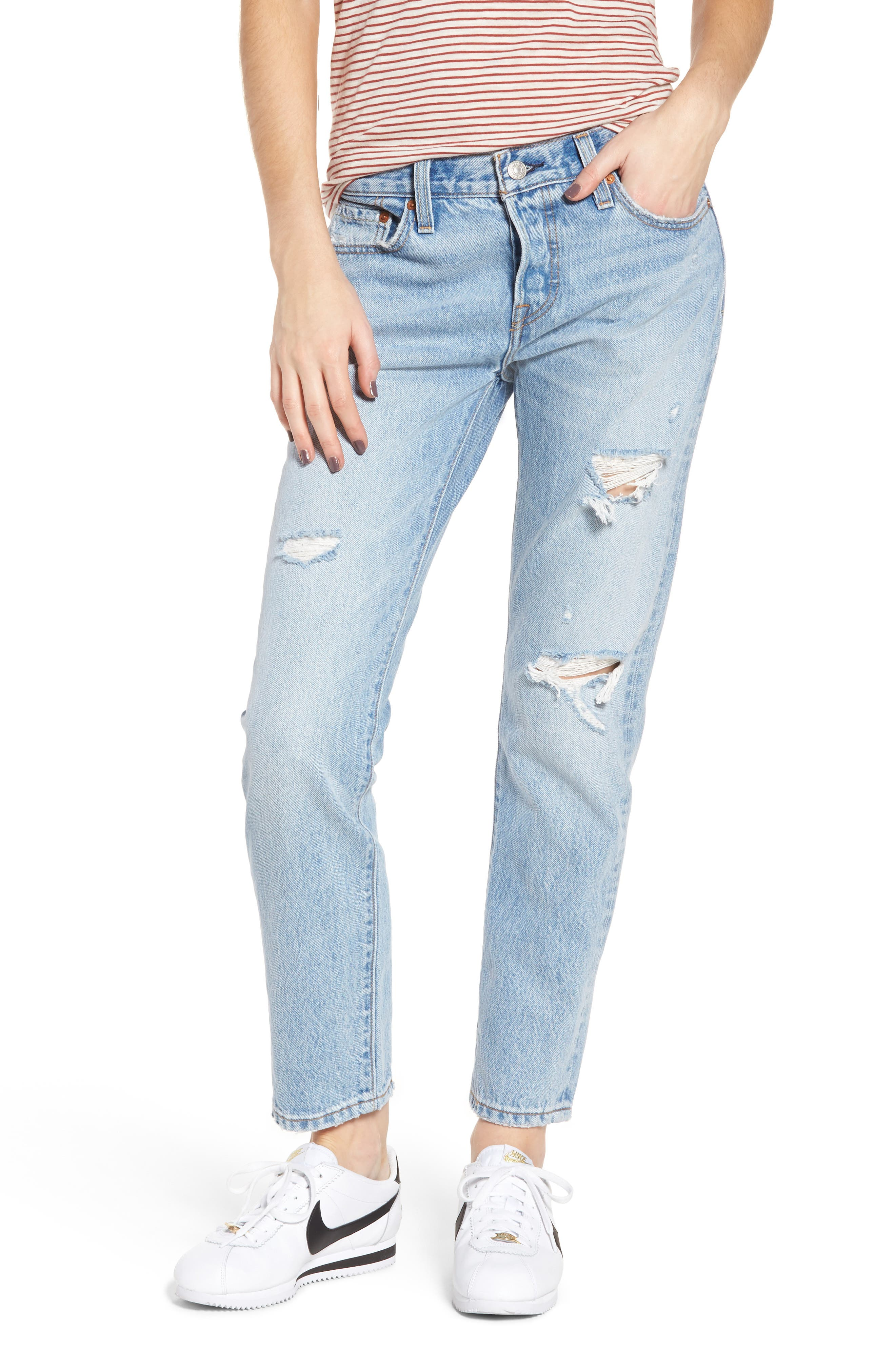 bca9aa4c Levi's 501 Taper Light-Wash Distressed Straight-Leg Jeans In So Called Life