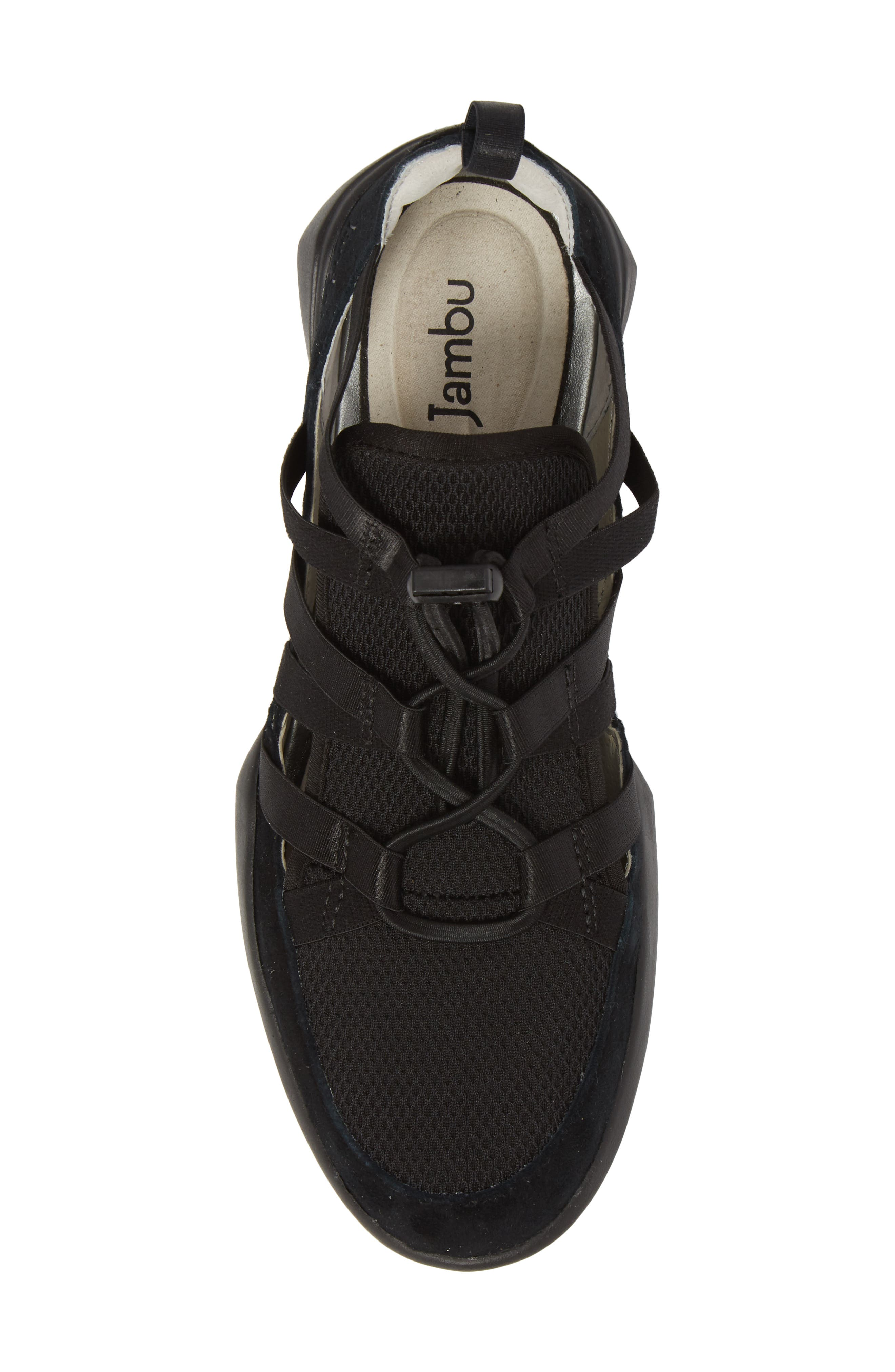 Azalea Sneaker,                             Alternate thumbnail 5, color,                             BLACK SUEDE