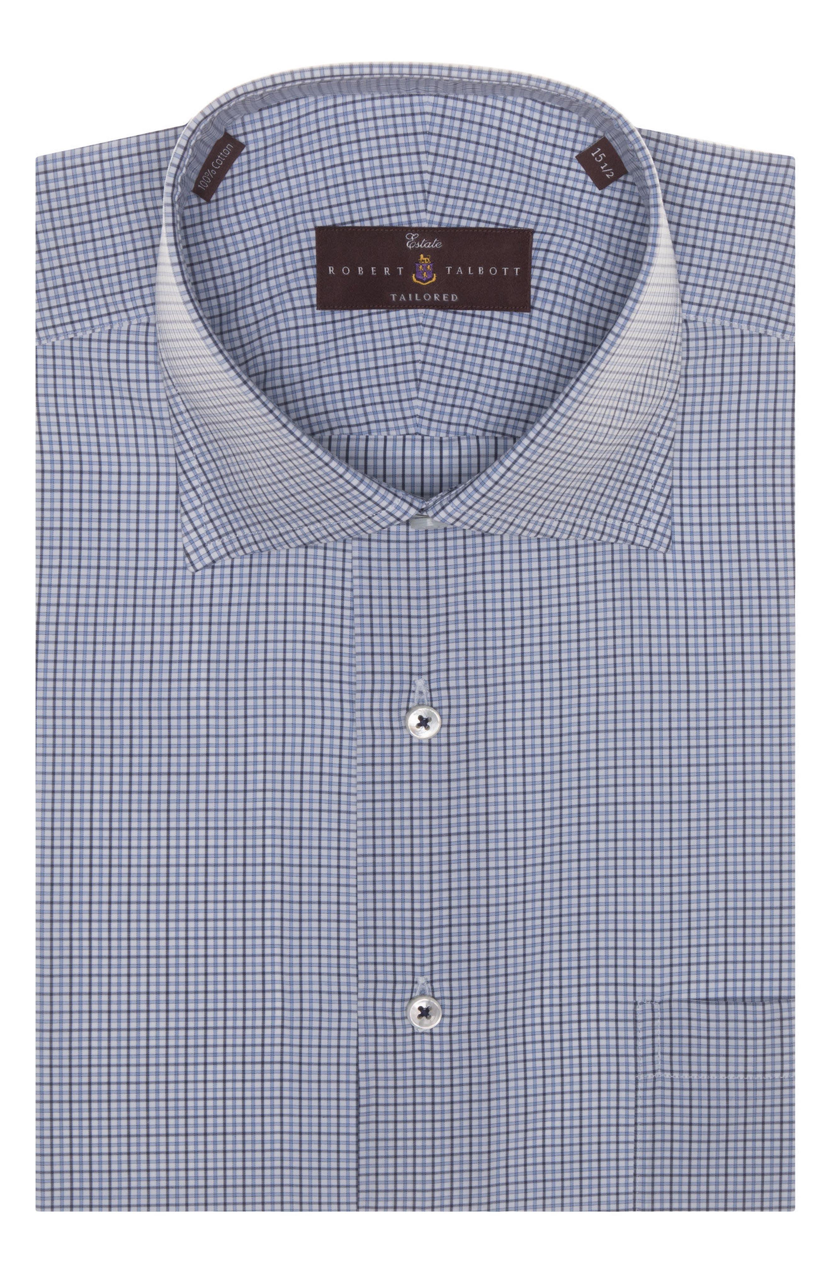 Tailored Fit Check Dress Shirt,                             Main thumbnail 1, color,                             401