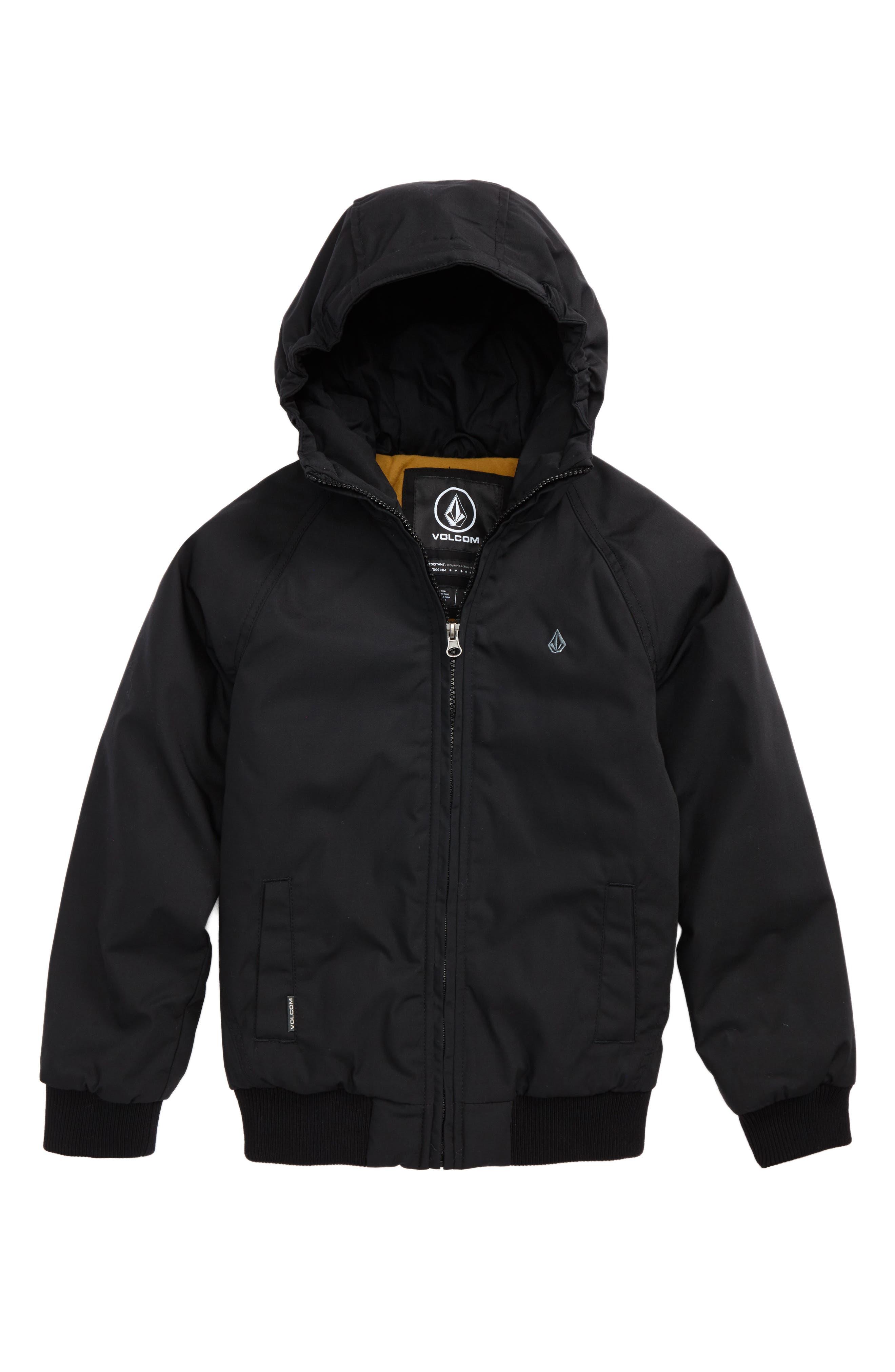 Boys Volcom Hernan Heavyweight Hooded Jacket Size XL (1820)  Black