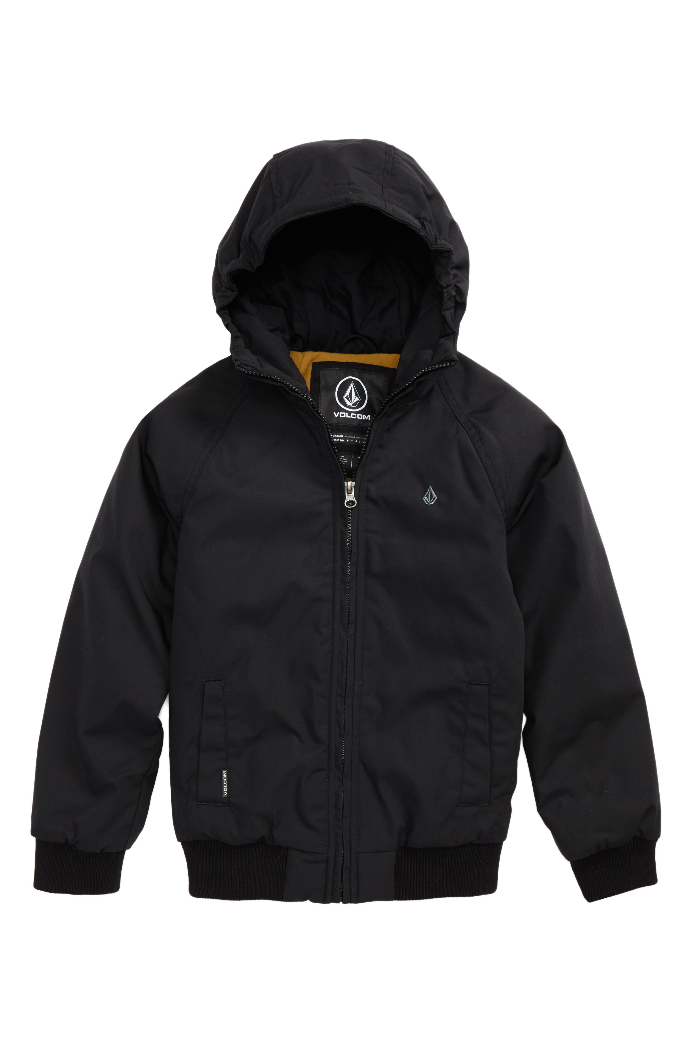 Hernan Heavyweight Hooded Jacket,                             Main thumbnail 1, color,                             BLACK