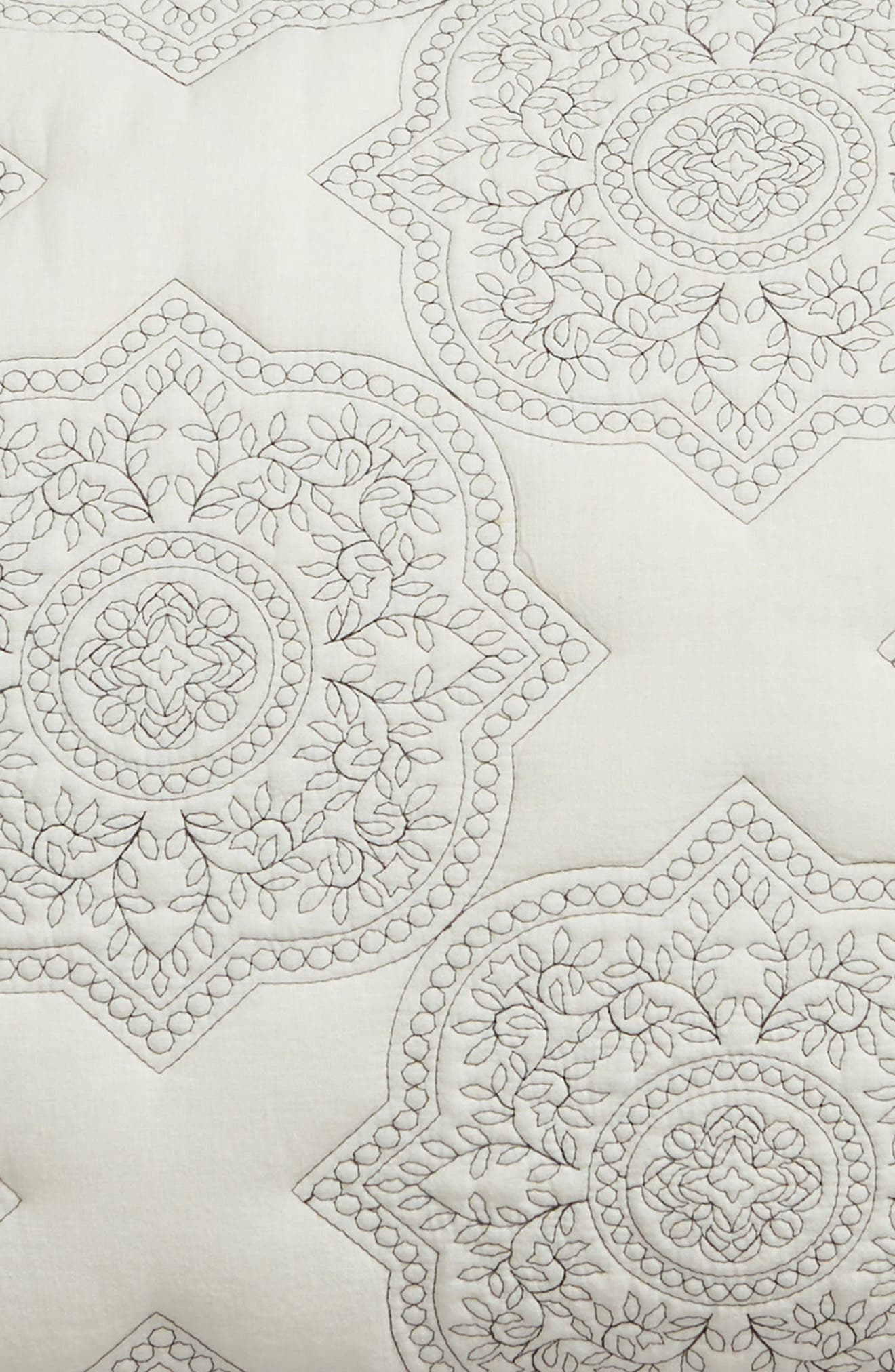 Ria Embroidered Sham,                             Alternate thumbnail 3, color,                             IVORY
