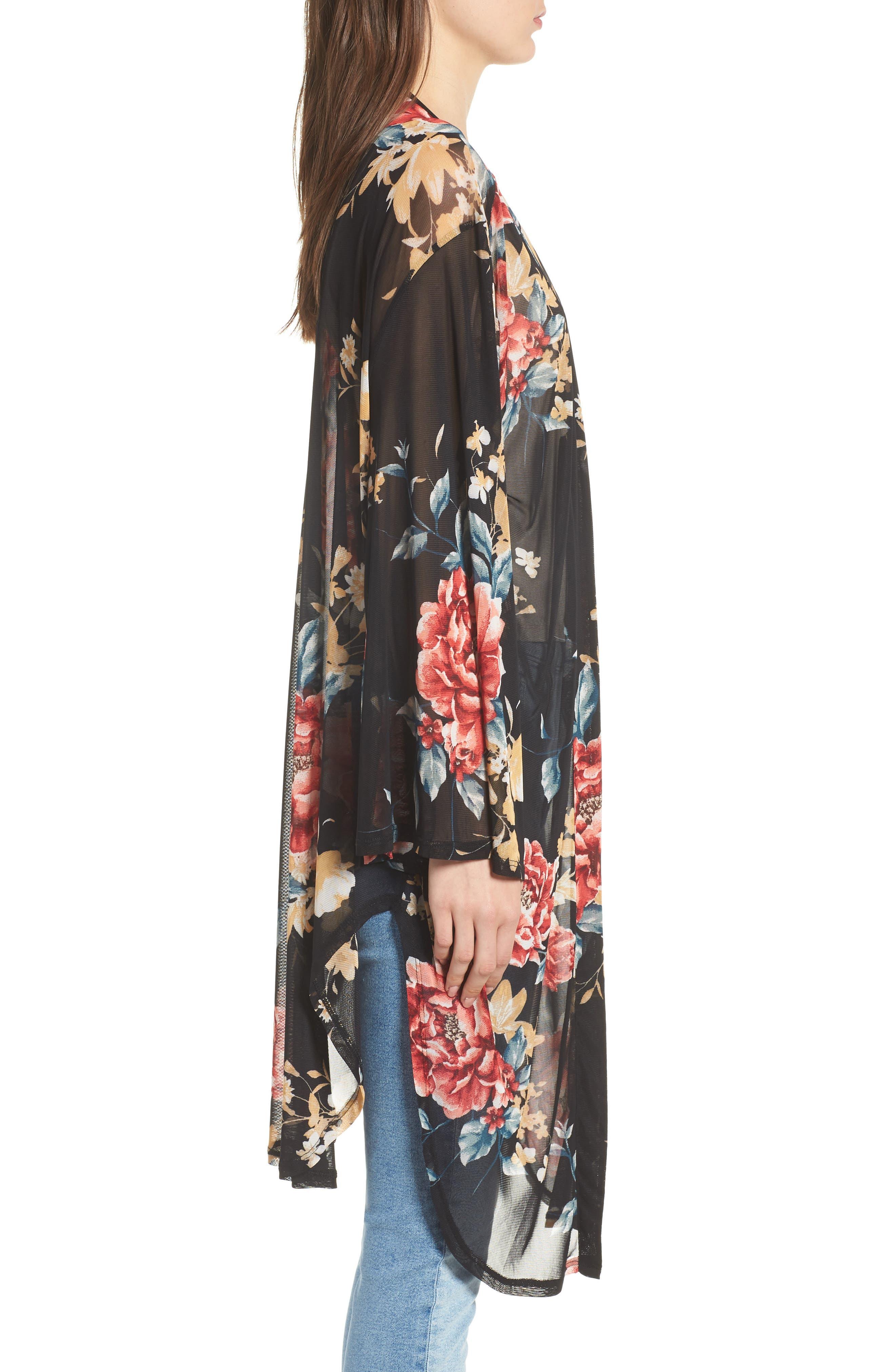 Floral Kimono,                             Alternate thumbnail 3, color,                             001