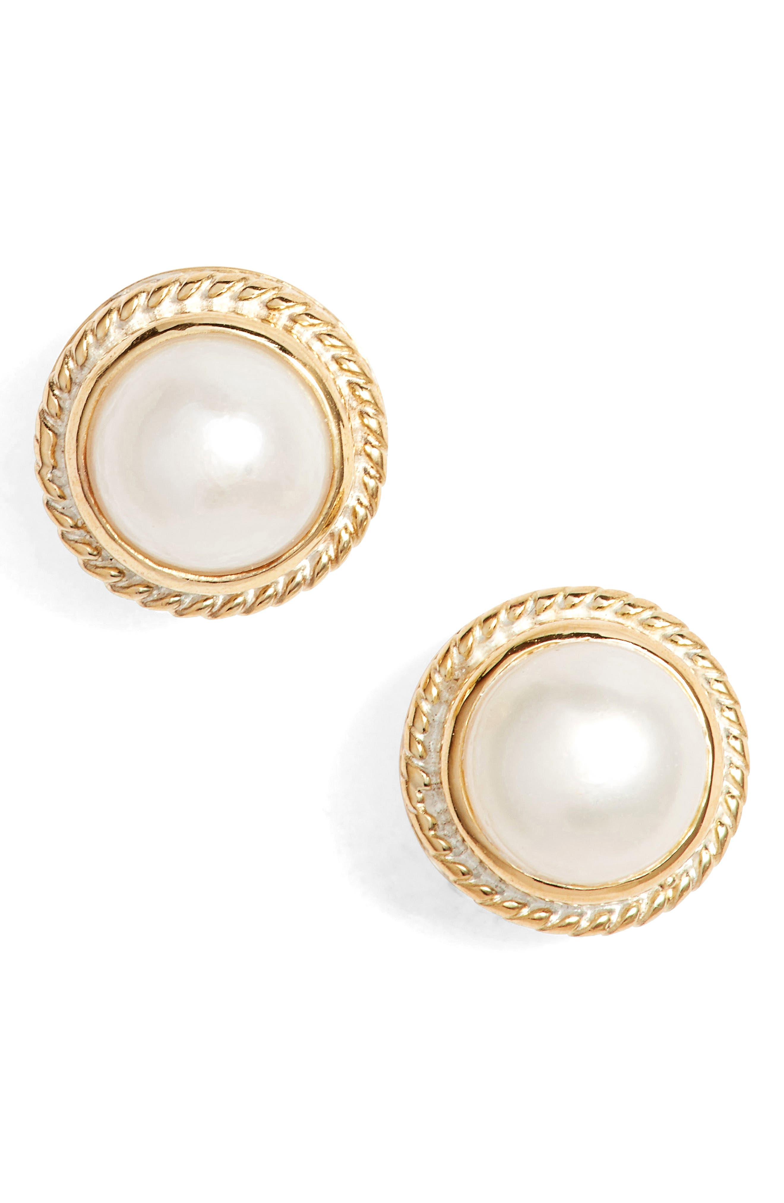 Stone Stud Earrings,                             Main thumbnail 2, color,