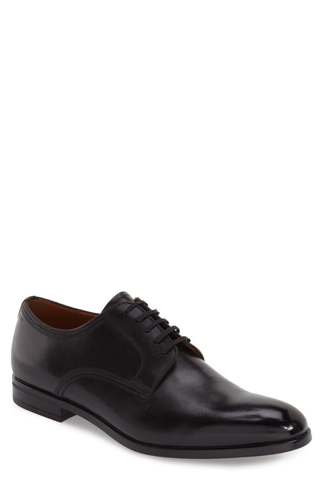 'Latour' Plain Toe Derby, Main, color, 001