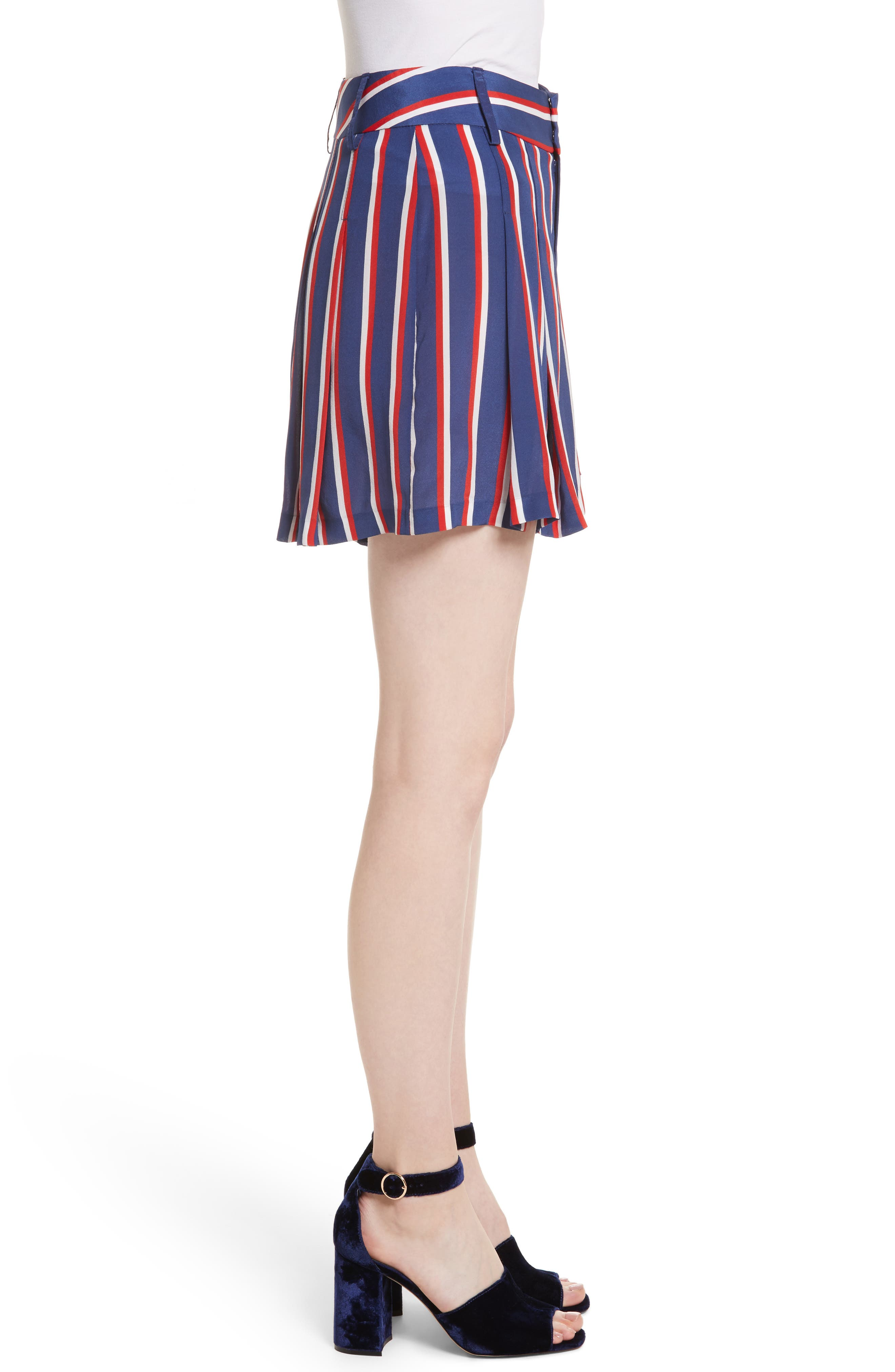 Scarlet Super High Waist Flutter Shorts,                             Alternate thumbnail 3, color,                             475
