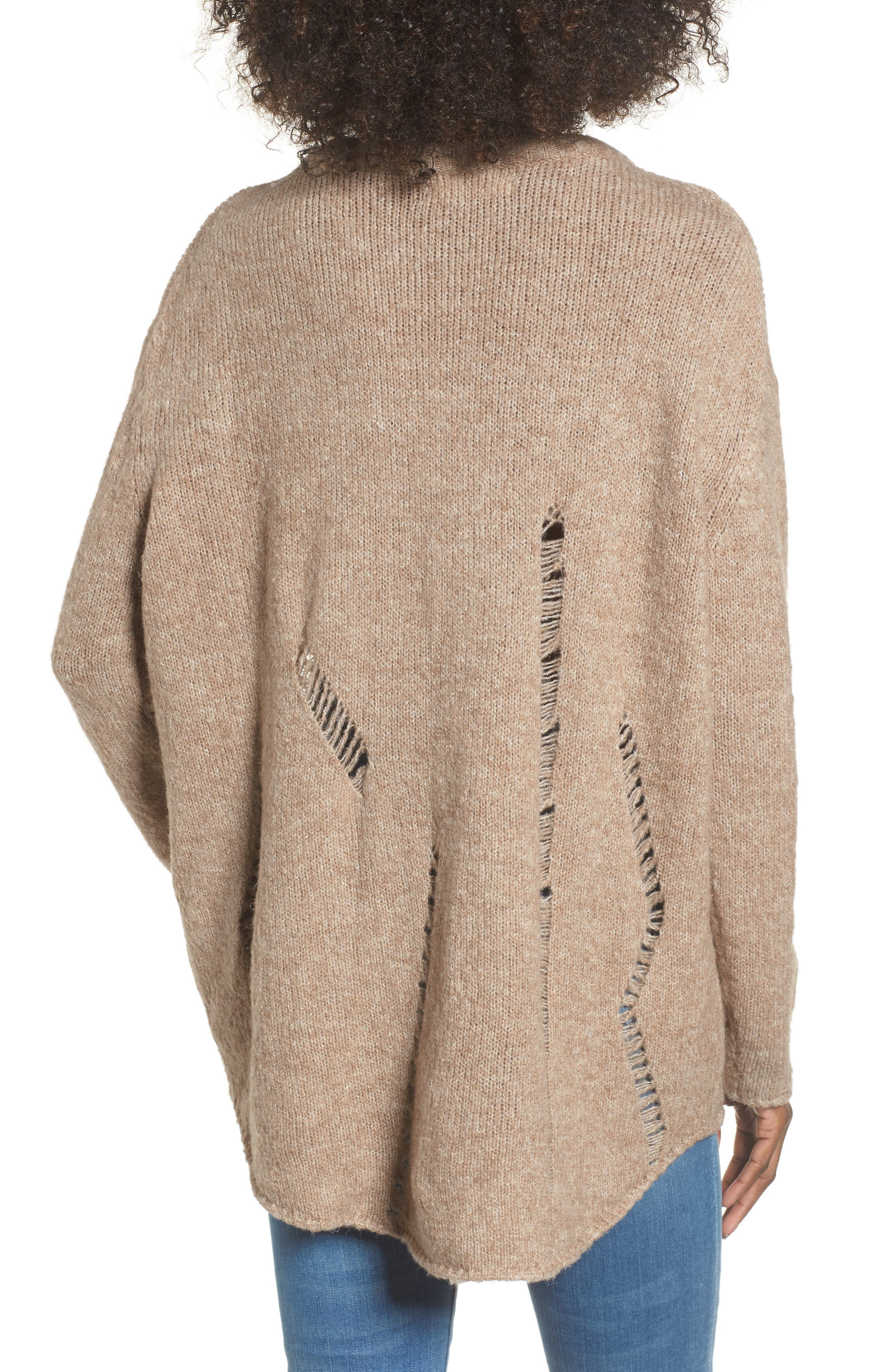 Destroyed Tunic Sweater,                             Alternate thumbnail 2, color,
