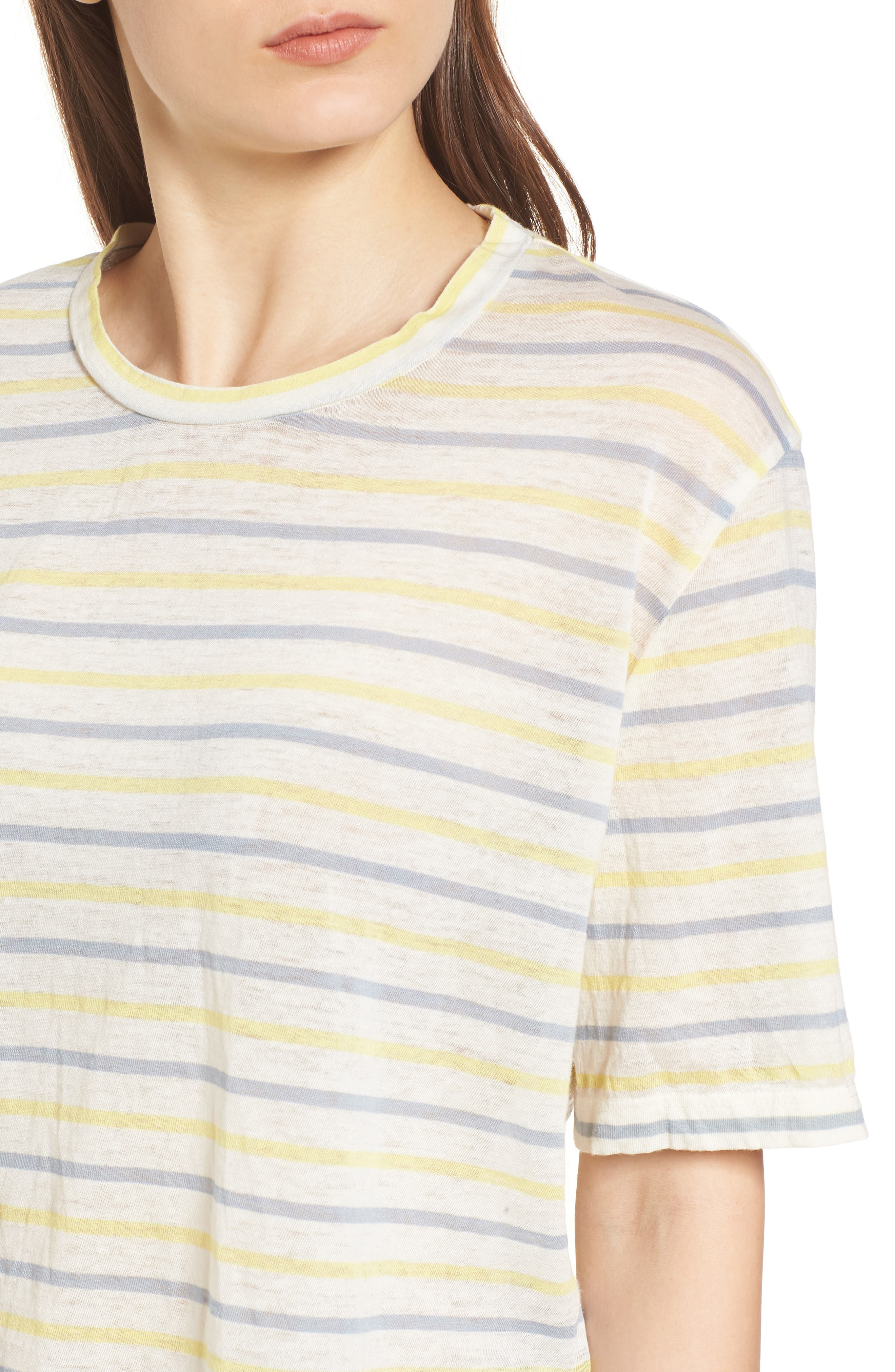 Stripe Baby Tee,                             Alternate thumbnail 4, color,                             450