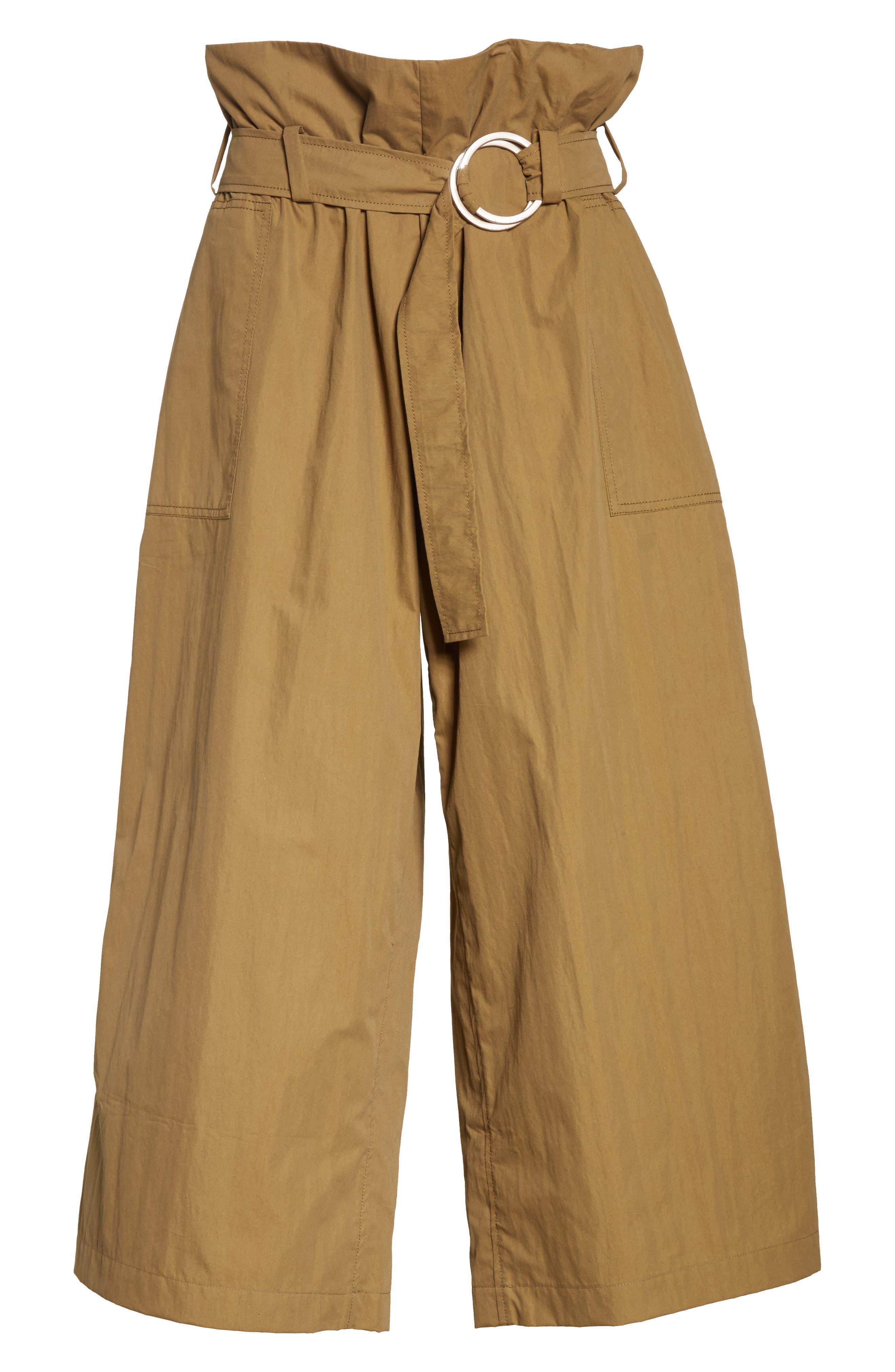 Tilly Belted Paperbag Pants,                             Alternate thumbnail 6, color,                             310