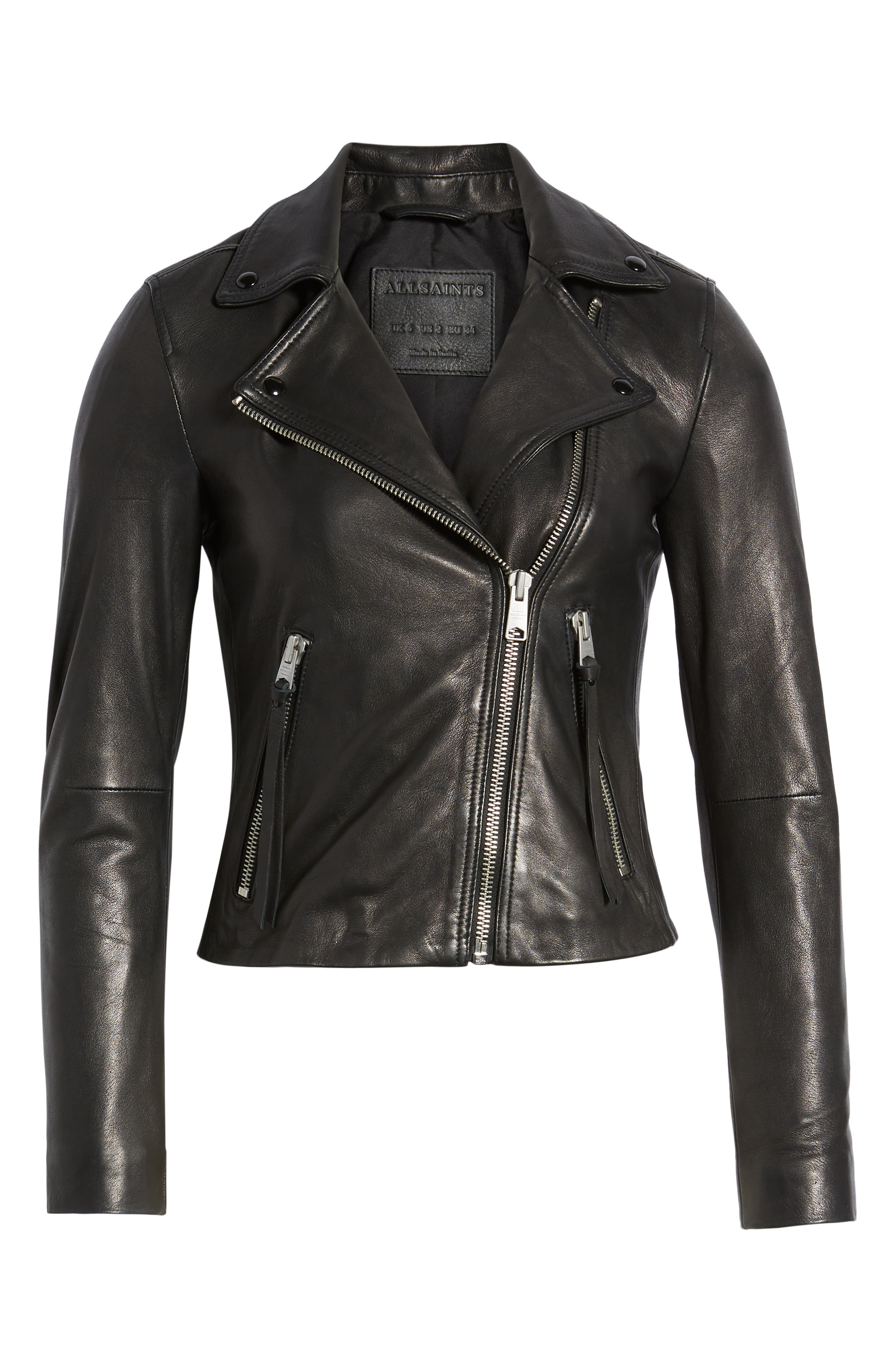 Dalby Biker Jacket,                             Alternate thumbnail 6, color,                             BLACK