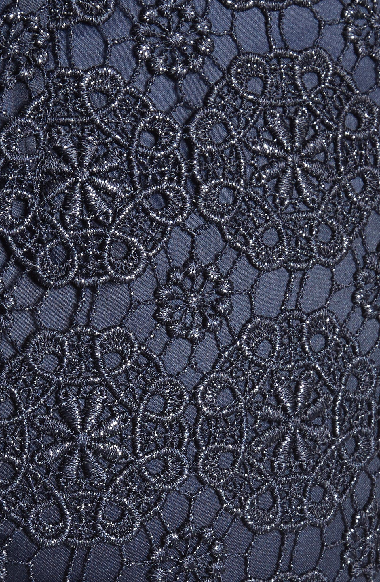 Metallic Guipure Lace Skirt,                             Alternate thumbnail 6, color,                             410