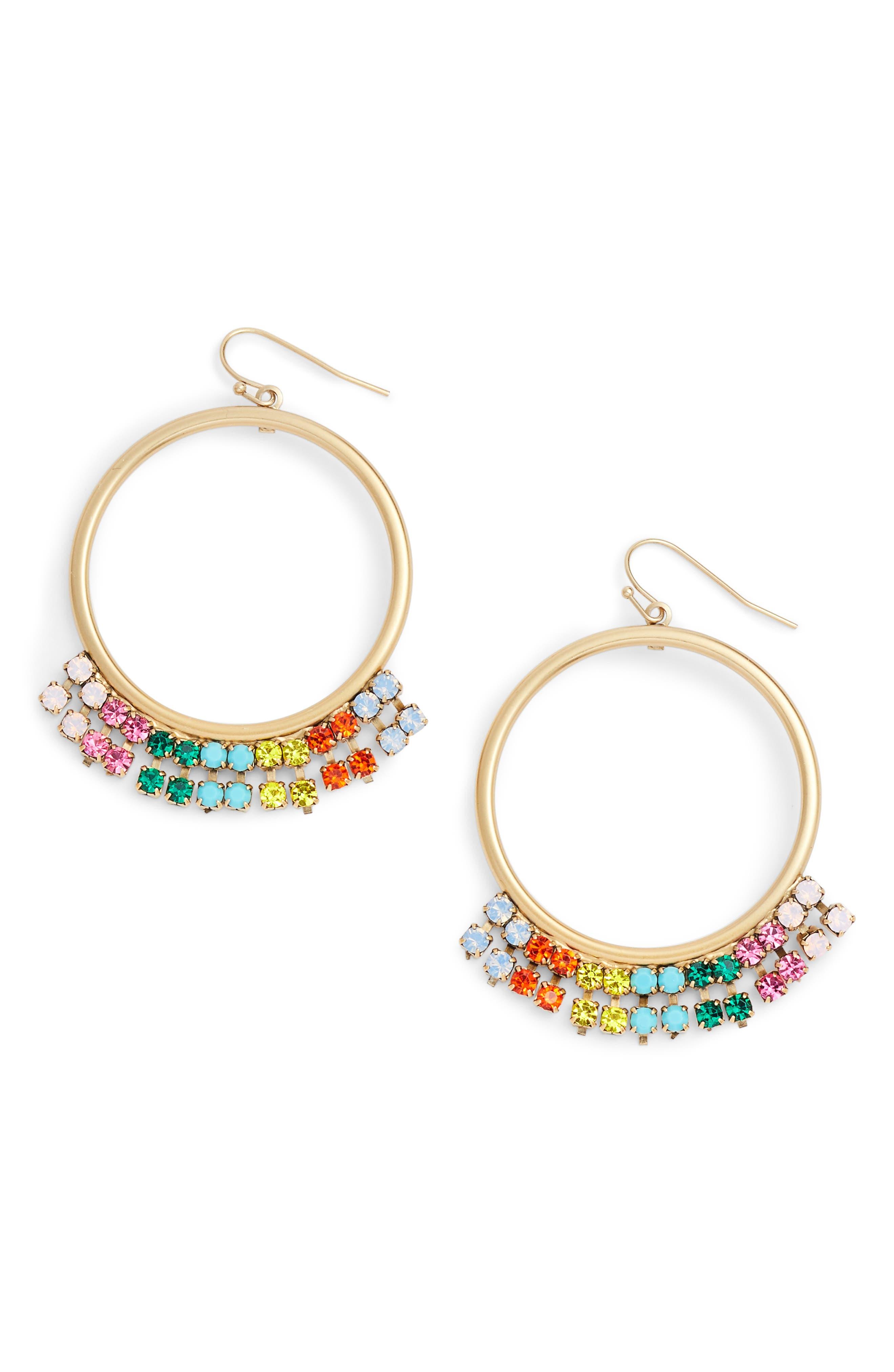 Emma Circle Drop Earrings,                             Main thumbnail 1, color,                             710