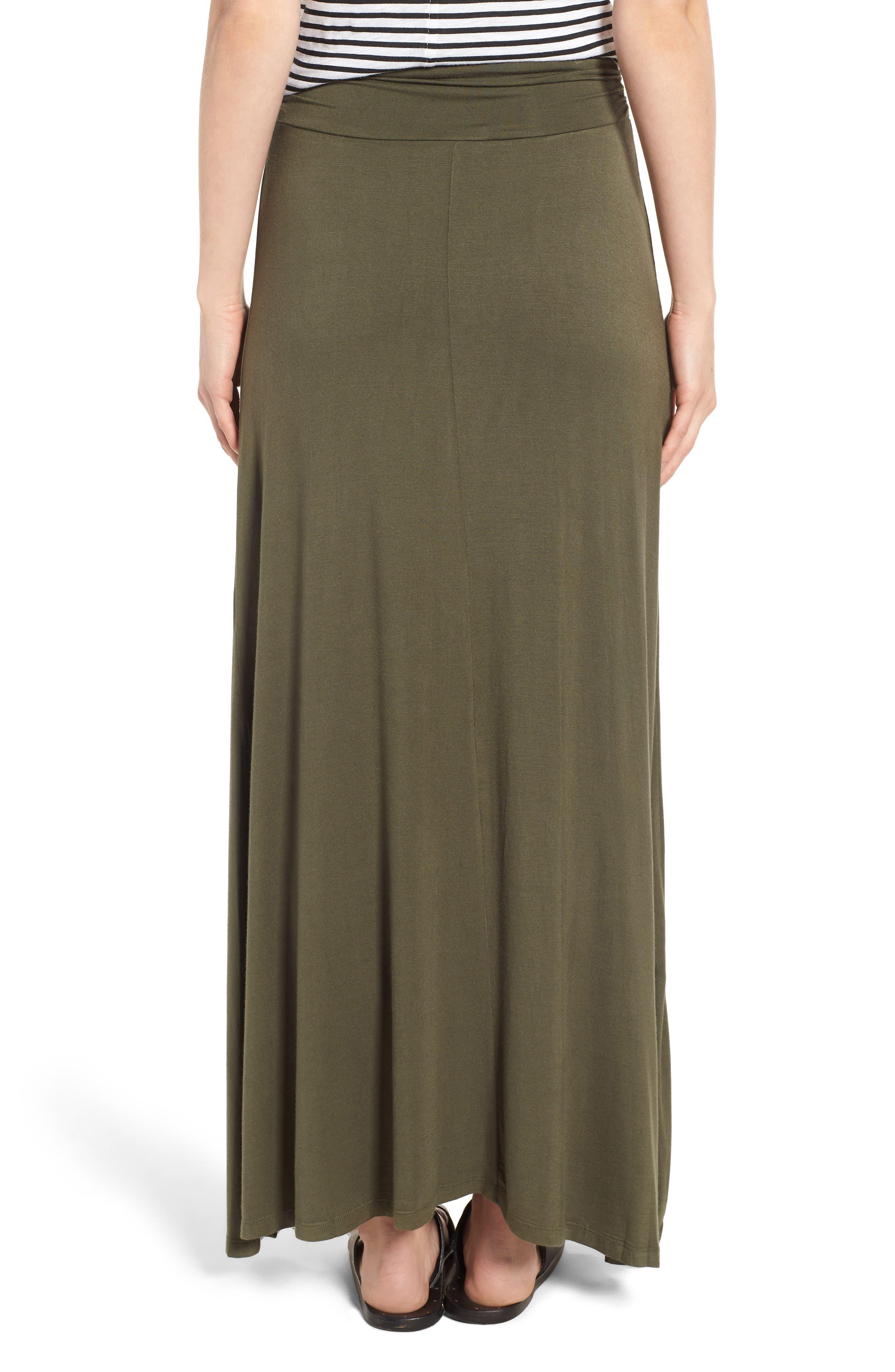 Ruched Waist Side Slit Maxi Skirt,                             Alternate thumbnail 2, color,                             302