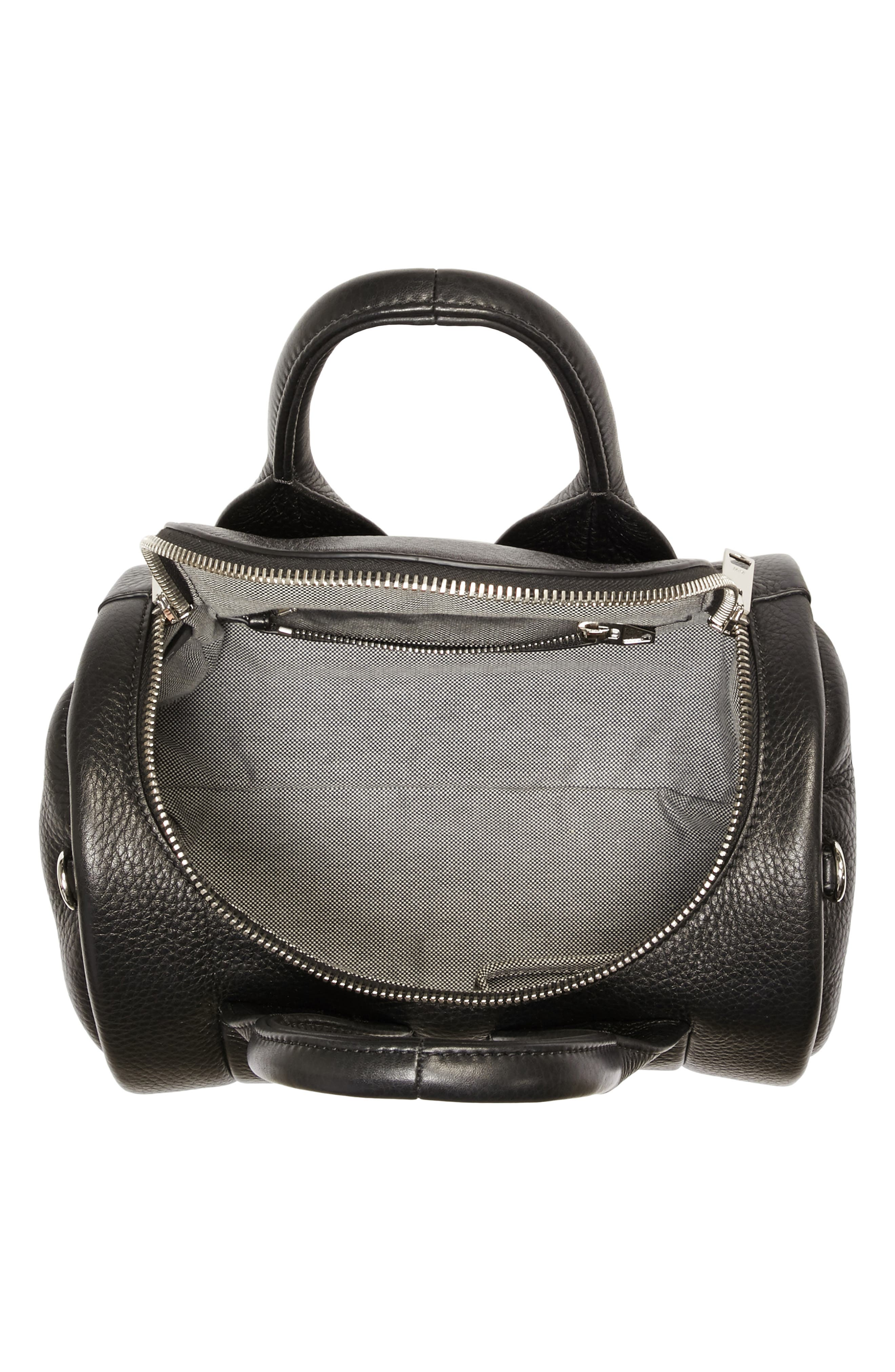 Rockie - Nickel Leather Satchel,                             Alternate thumbnail 4, color,                             001