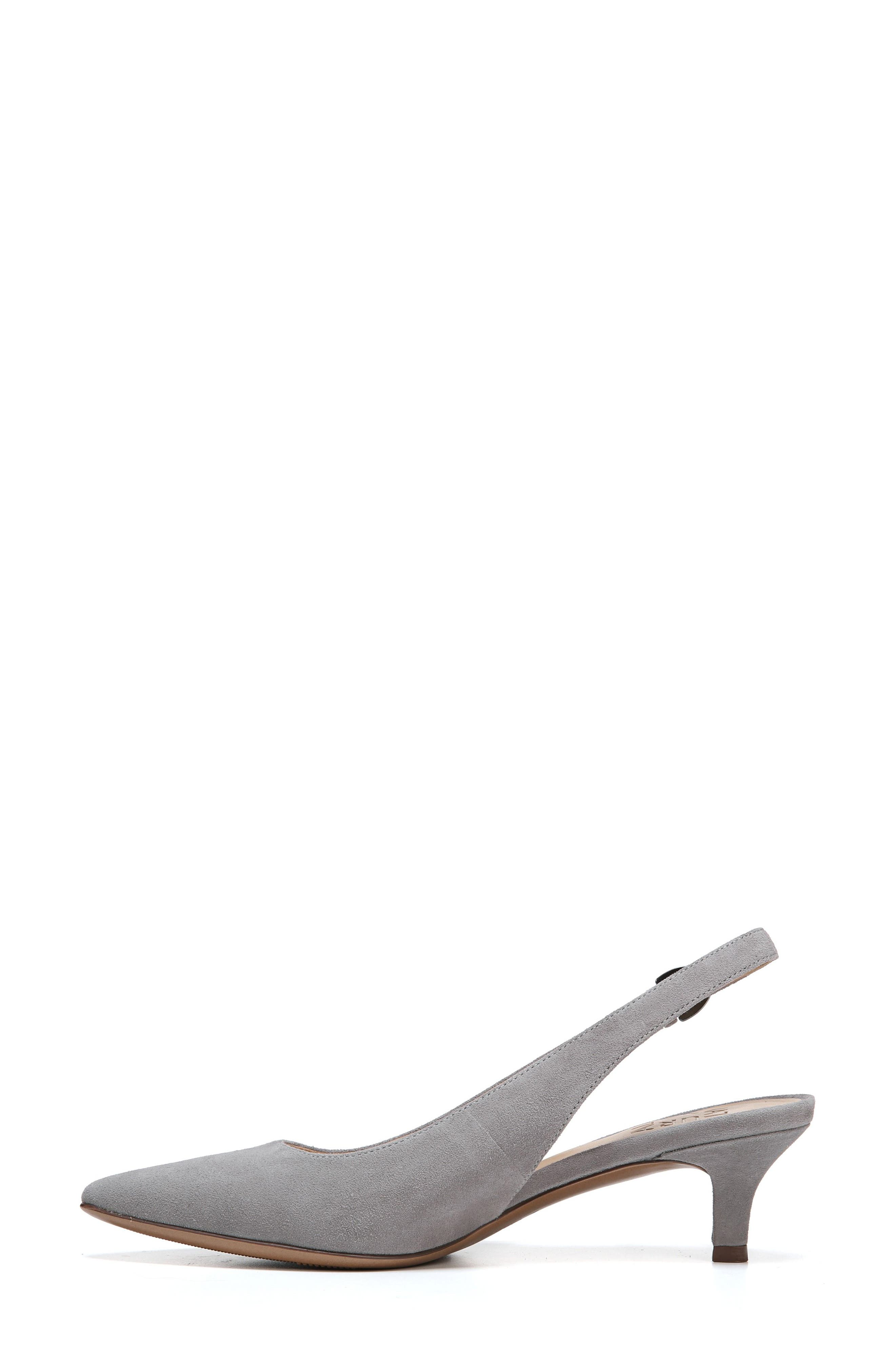 Slingback Pump,                             Alternate thumbnail 3, color,                             GREY SUEDE
