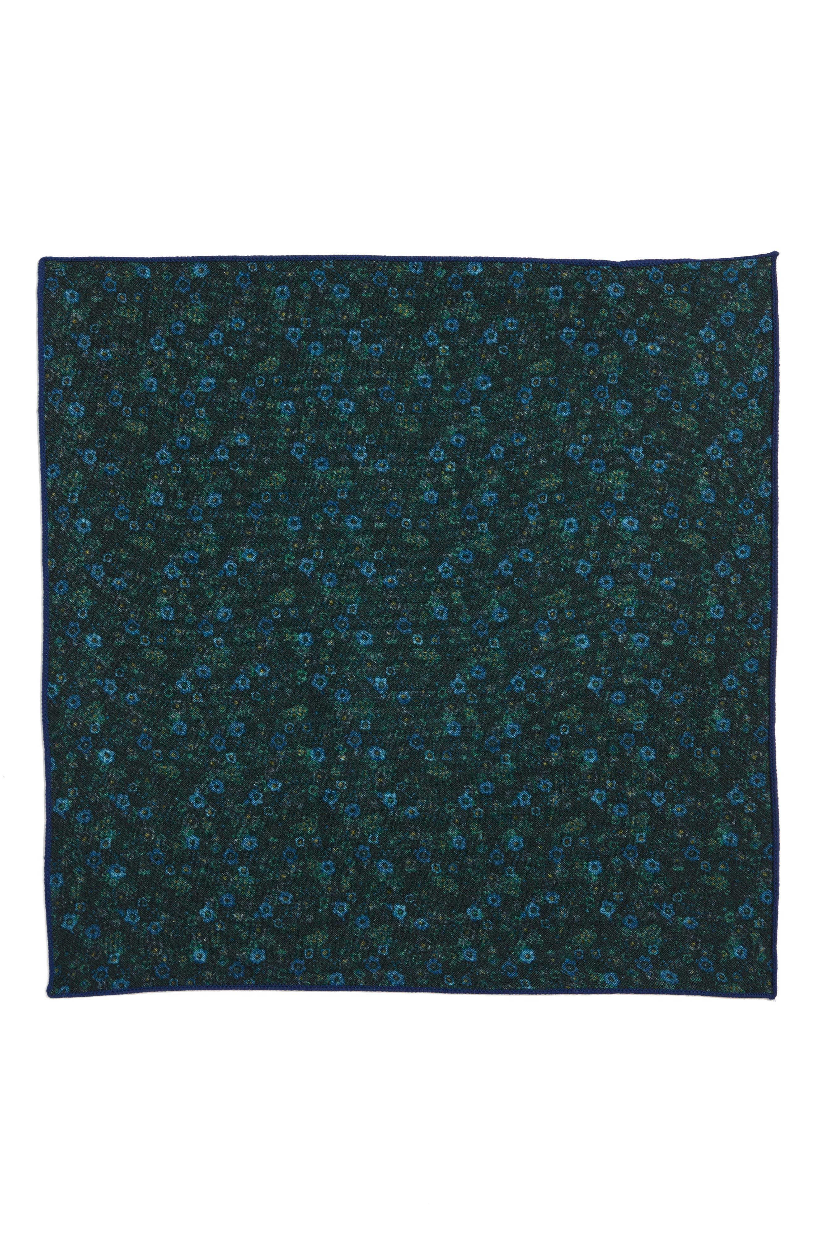 Floral Wool Pocket Square,                             Alternate thumbnail 2, color,                             300