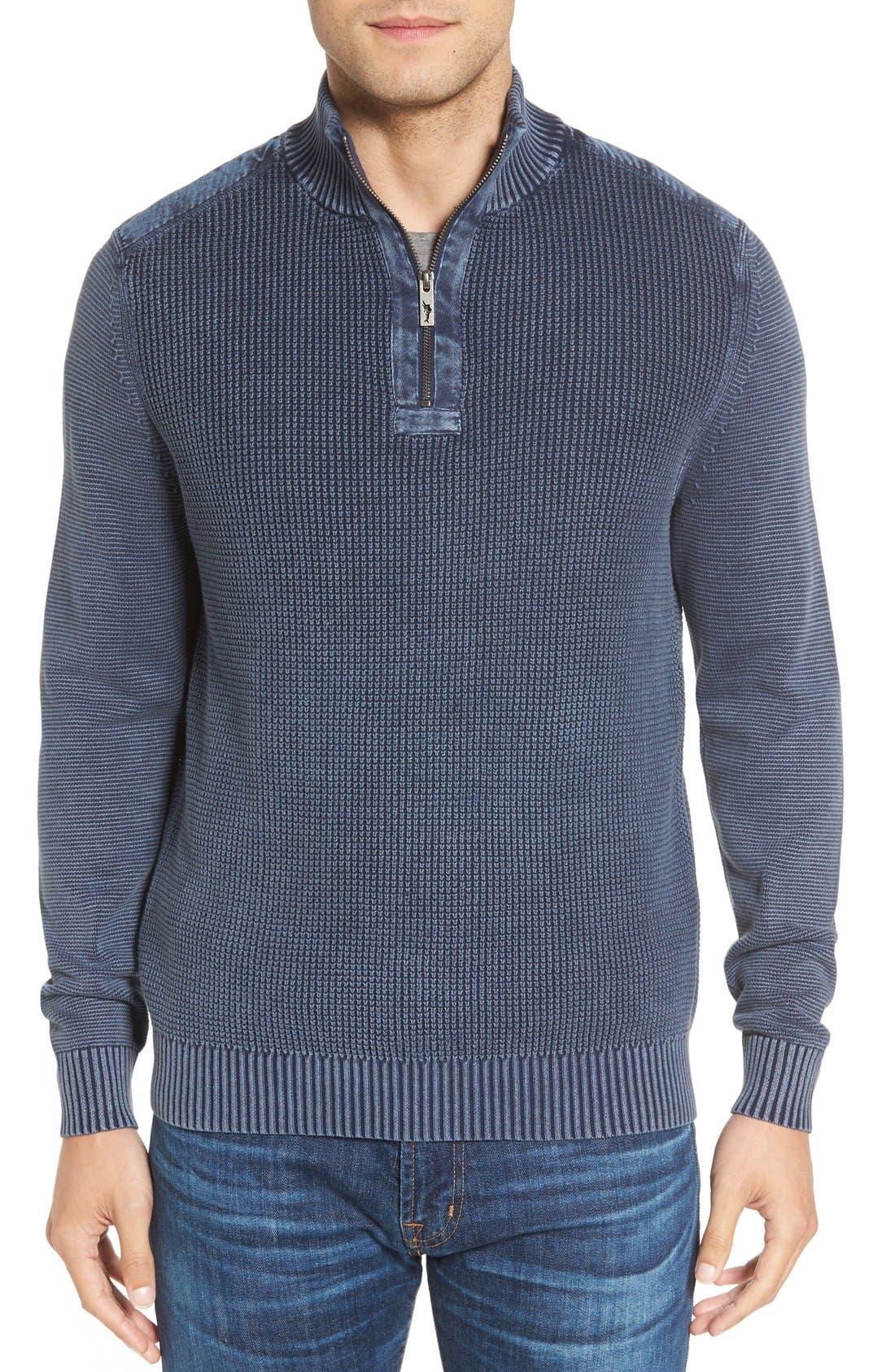 Coastal Shores Quarter Zip Sweater,                             Main thumbnail 5, color,