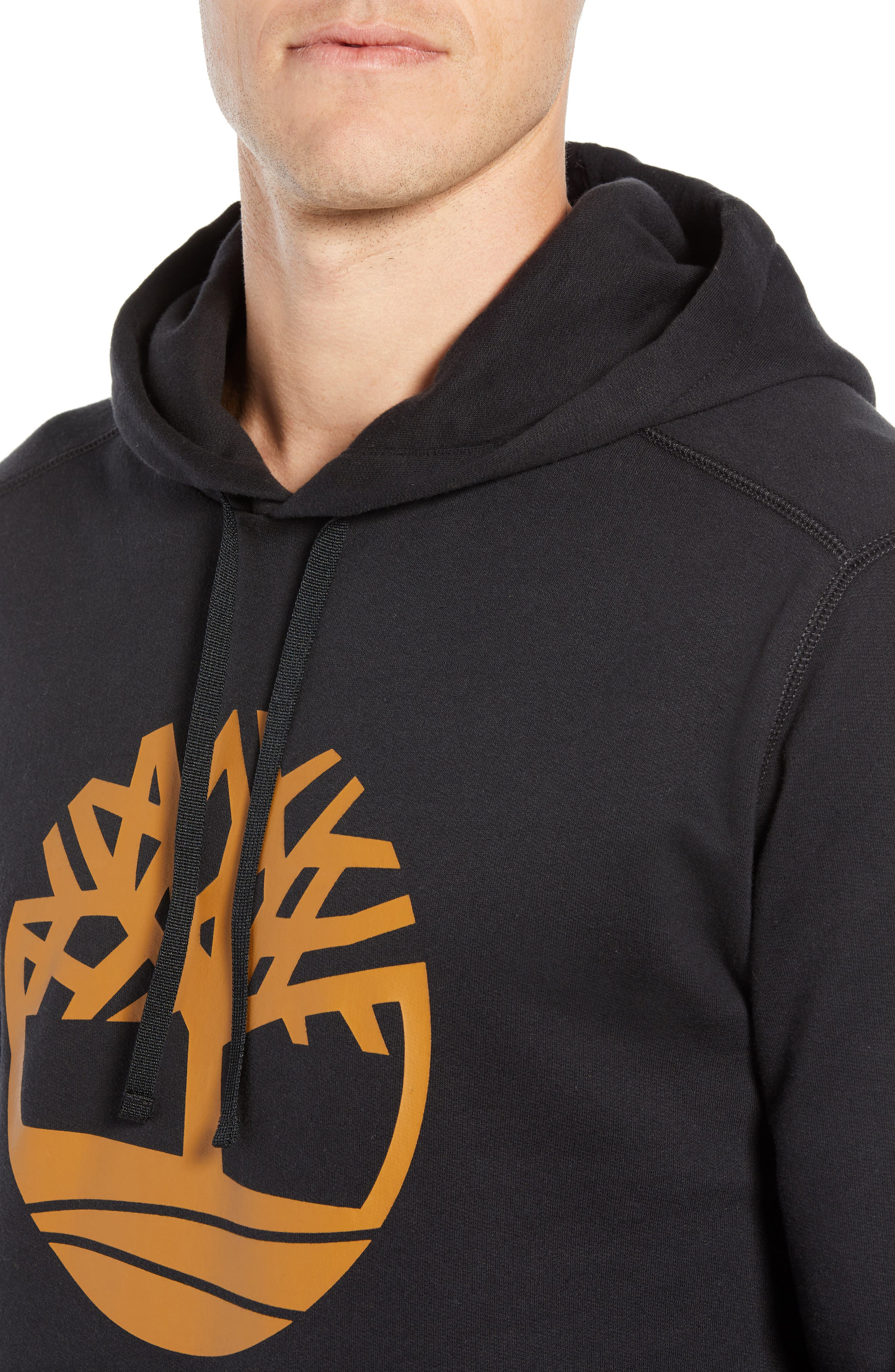 Logo Hoodie Sweatshirt,                             Alternate thumbnail 4, color,                             BLACK