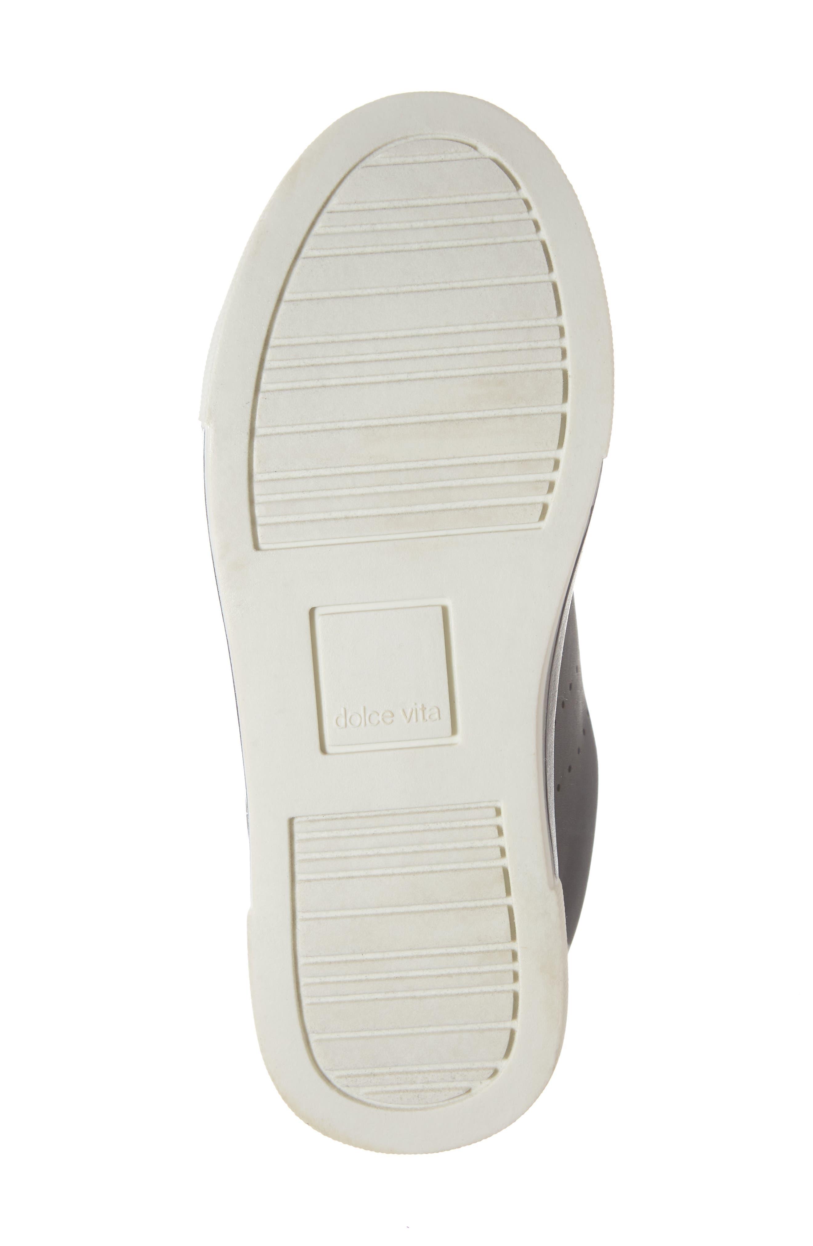 Cabel Glitter Faux Fur Sneaker,                             Alternate thumbnail 6, color,                             BLACK STELLA