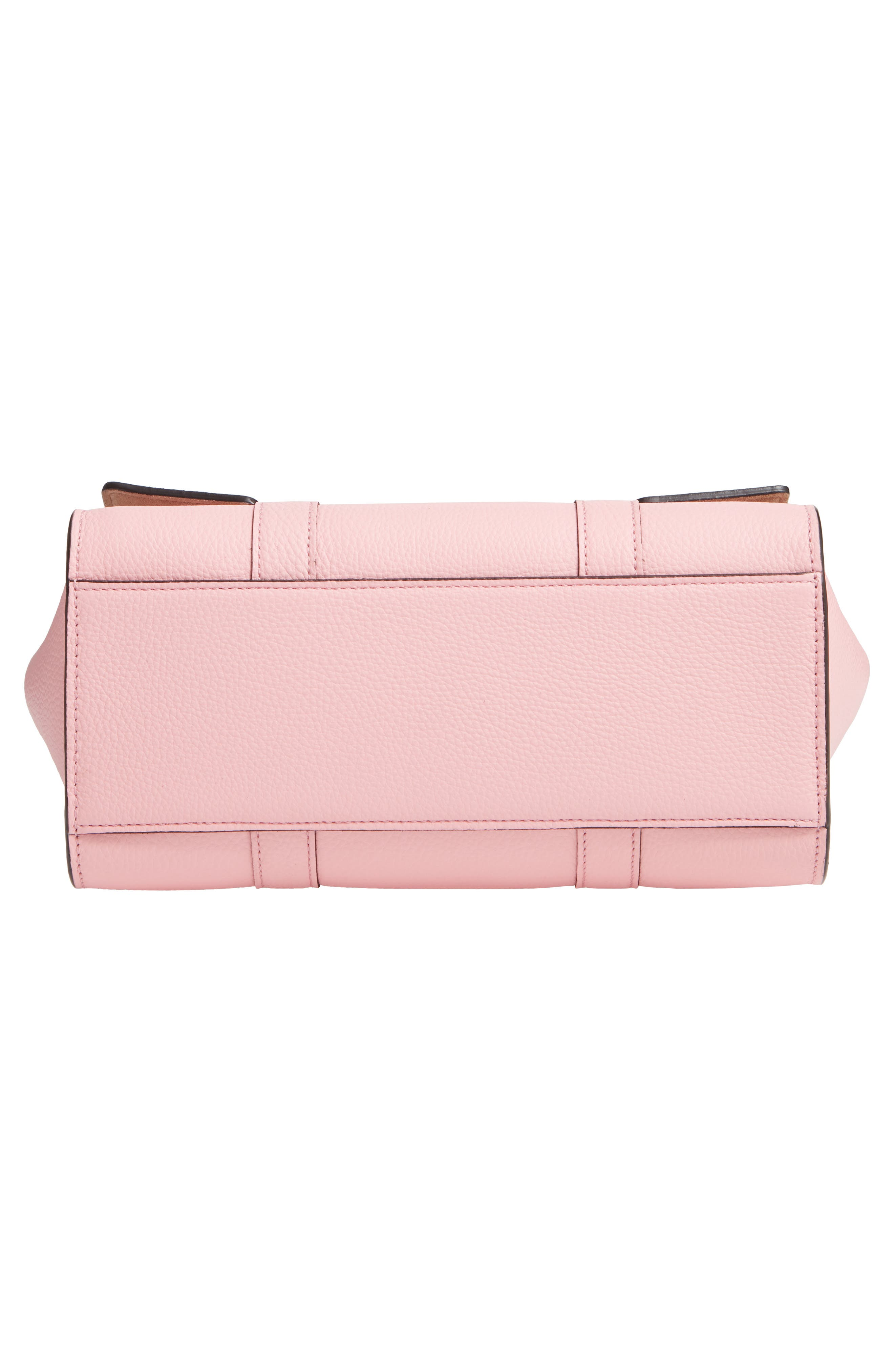 Small Bayswater Leather Satchel,                             Alternate thumbnail 6, color,                             SORBET PINK