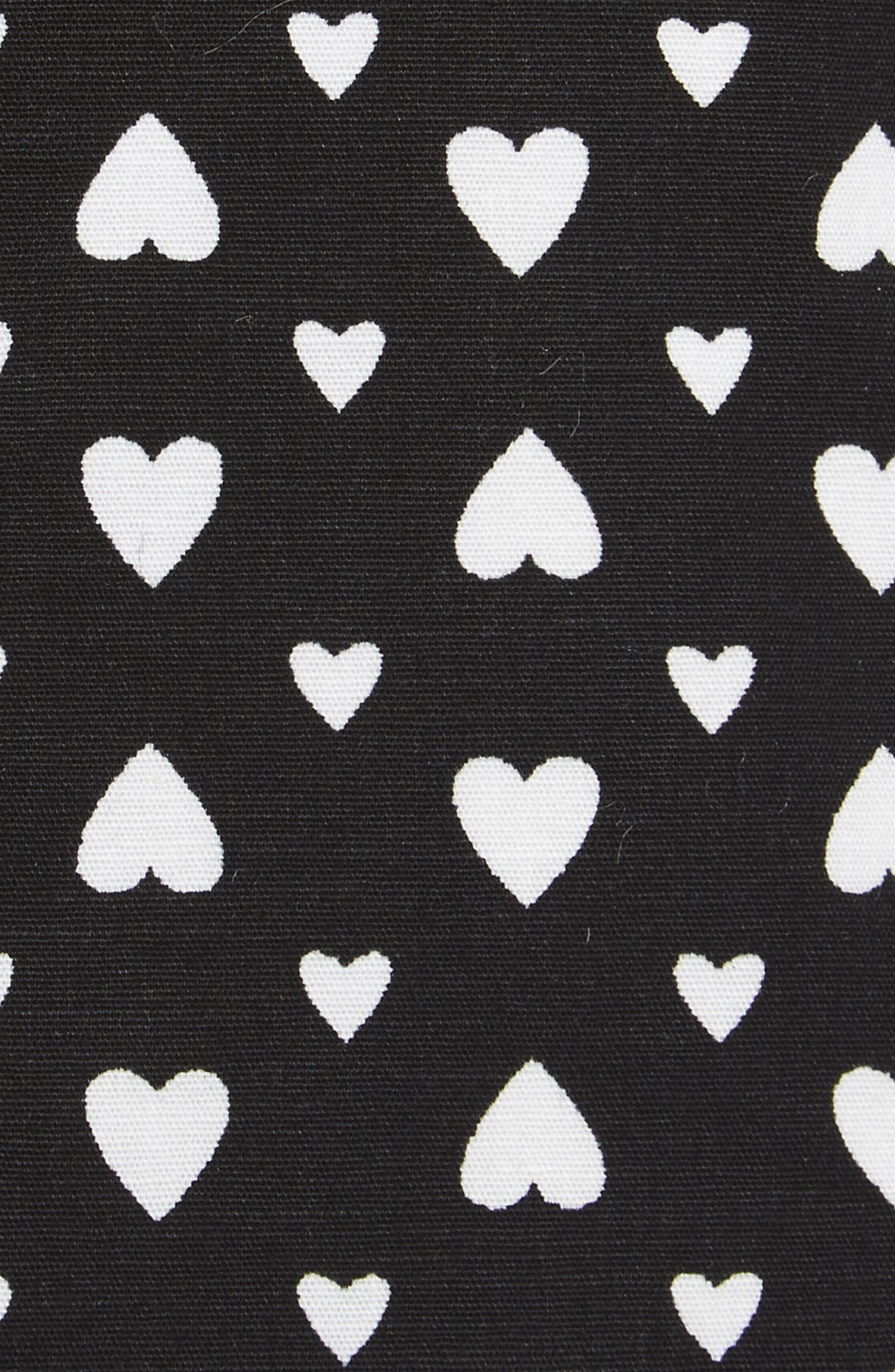 Hearts Print Skinny Tie,                             Alternate thumbnail 2, color,                             001