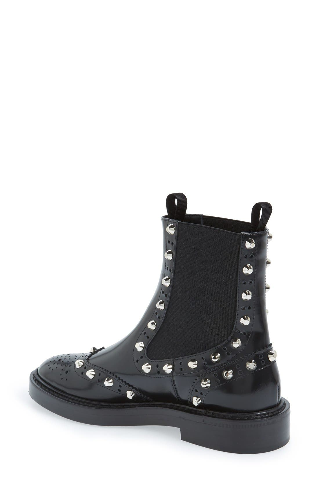 Studded Chelsea Boot,                             Alternate thumbnail 2, color,                             001