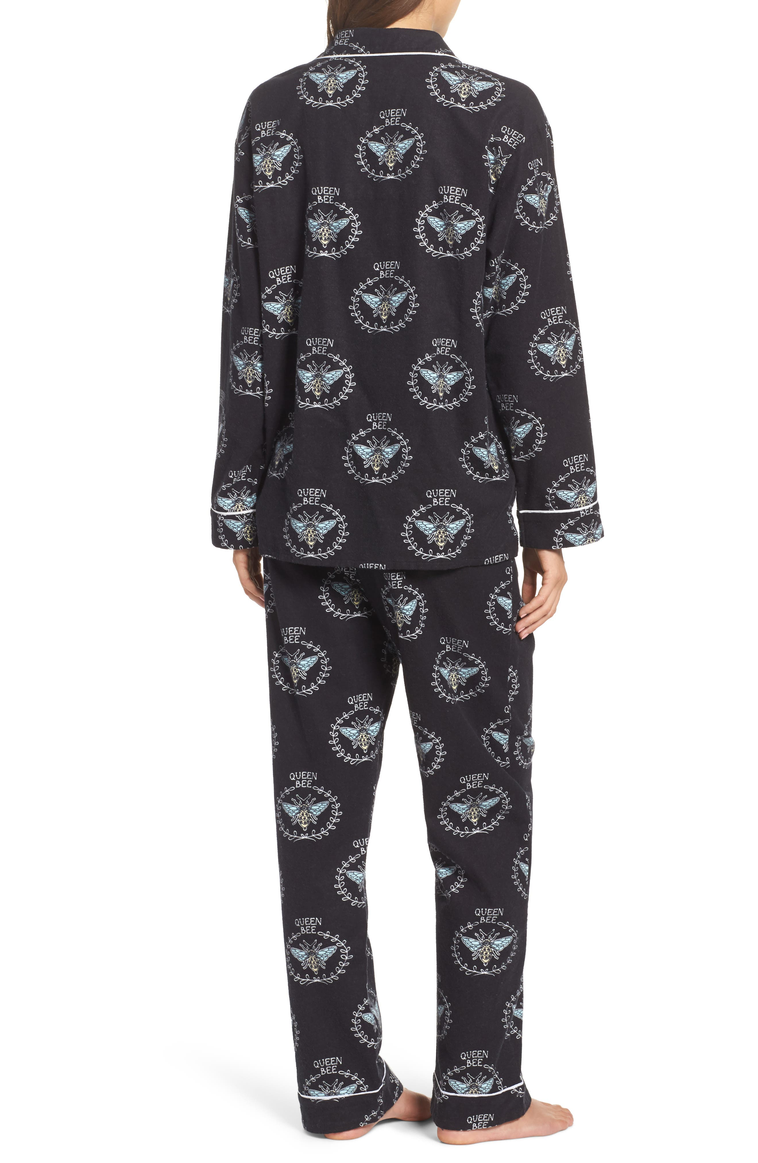 Print Flannel Pajamas,                             Alternate thumbnail 2, color,                             001
