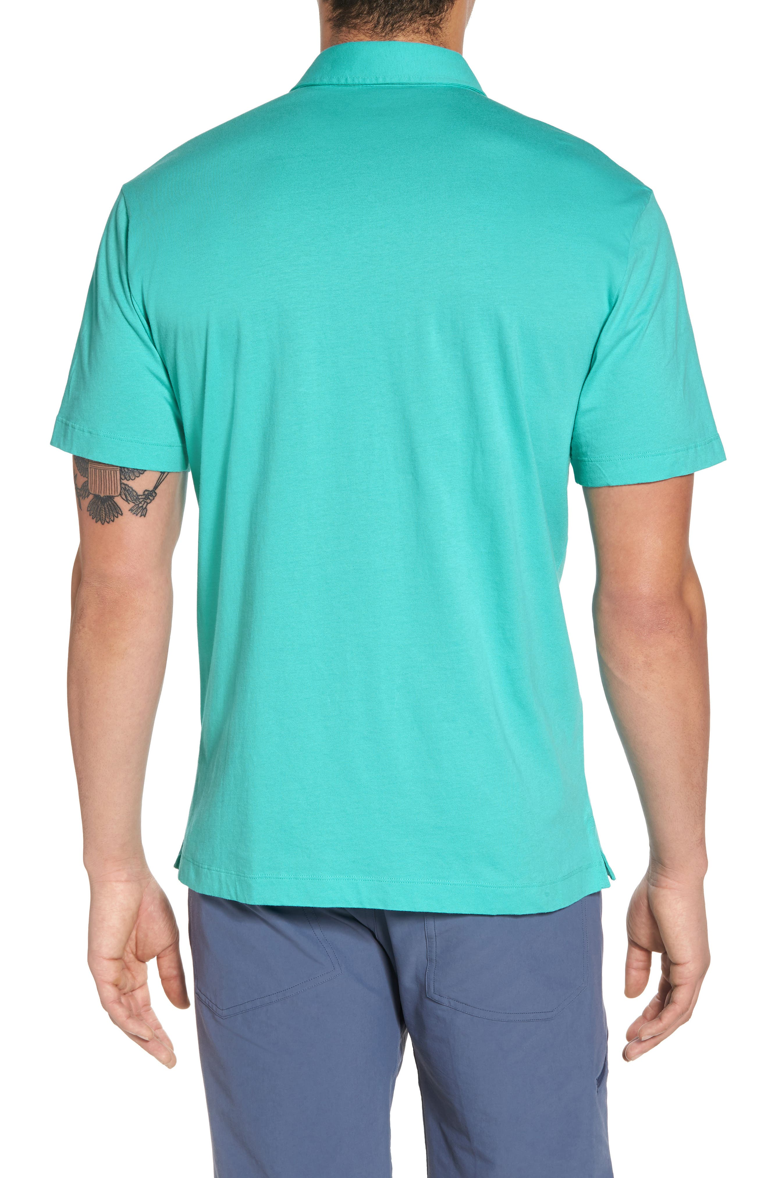 'Trout Fitz Roy' Organic Cotton Polo,                             Alternate thumbnail 2, color,                             STRAIGHT BLUE
