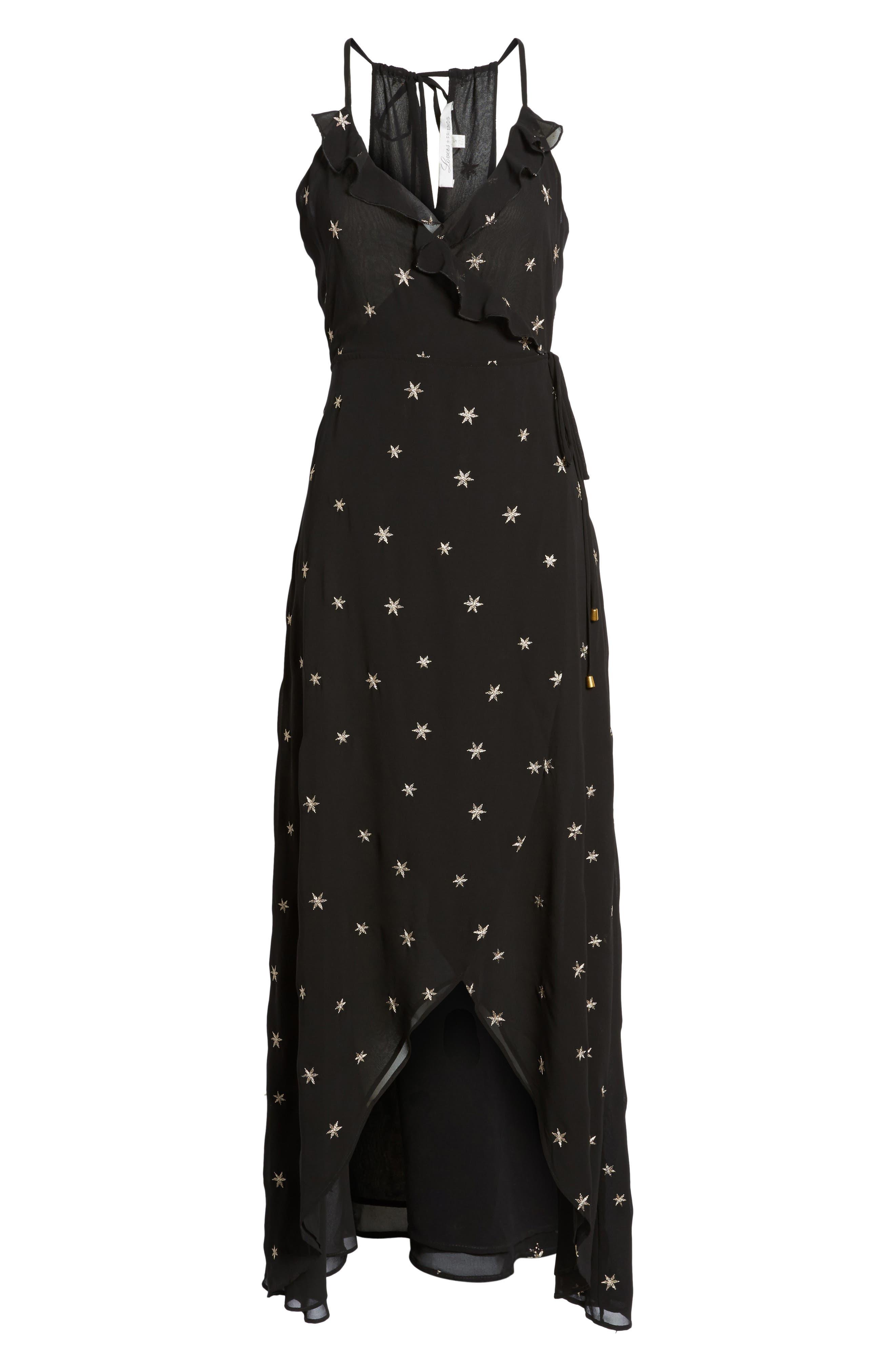 Nostalgia Maxi Dress,                             Alternate thumbnail 6, color,                             001