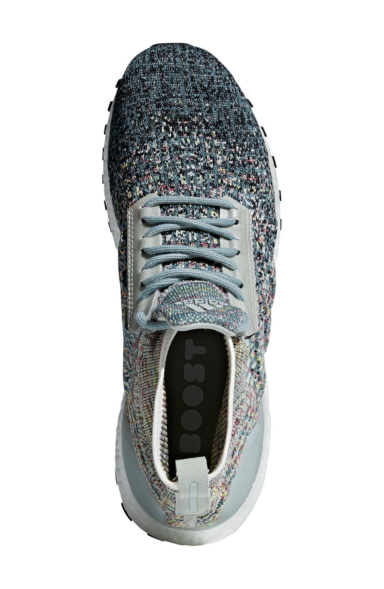 UltraBoost All Terrain LTD Running Shoe,                             Alternate thumbnail 4, color,                             ASH SILVER/ CARBON/ BLACK