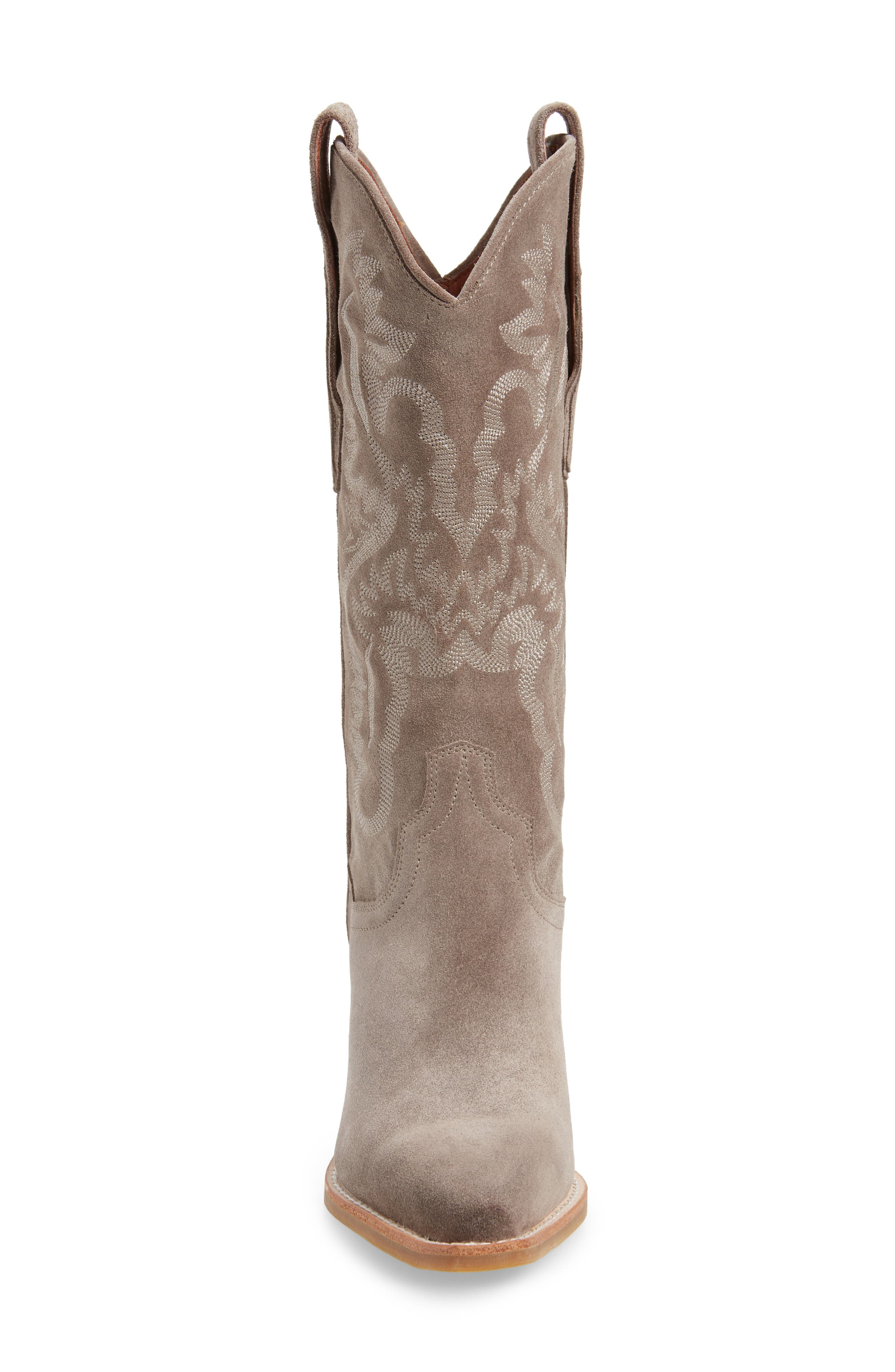 Dagget Western Boot,                             Alternate thumbnail 4, color,                             TAUPE SUEDE