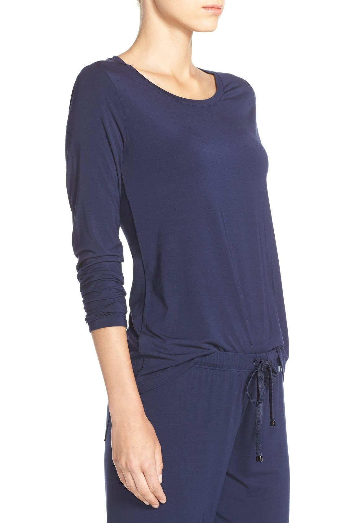 Long Sleeve Stretch Modal Top,                             Alternate thumbnail 4, color,                             411