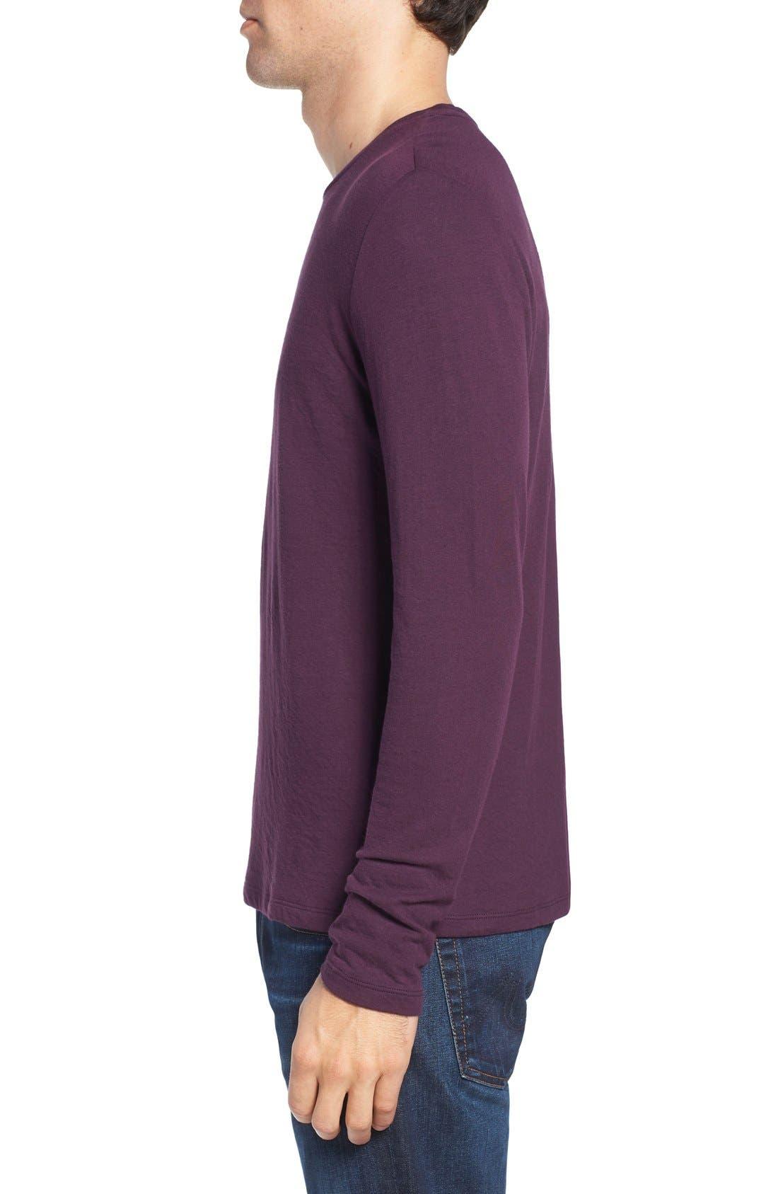 Long Sleeve Crewneck T-Shirt,                             Alternate thumbnail 12, color,