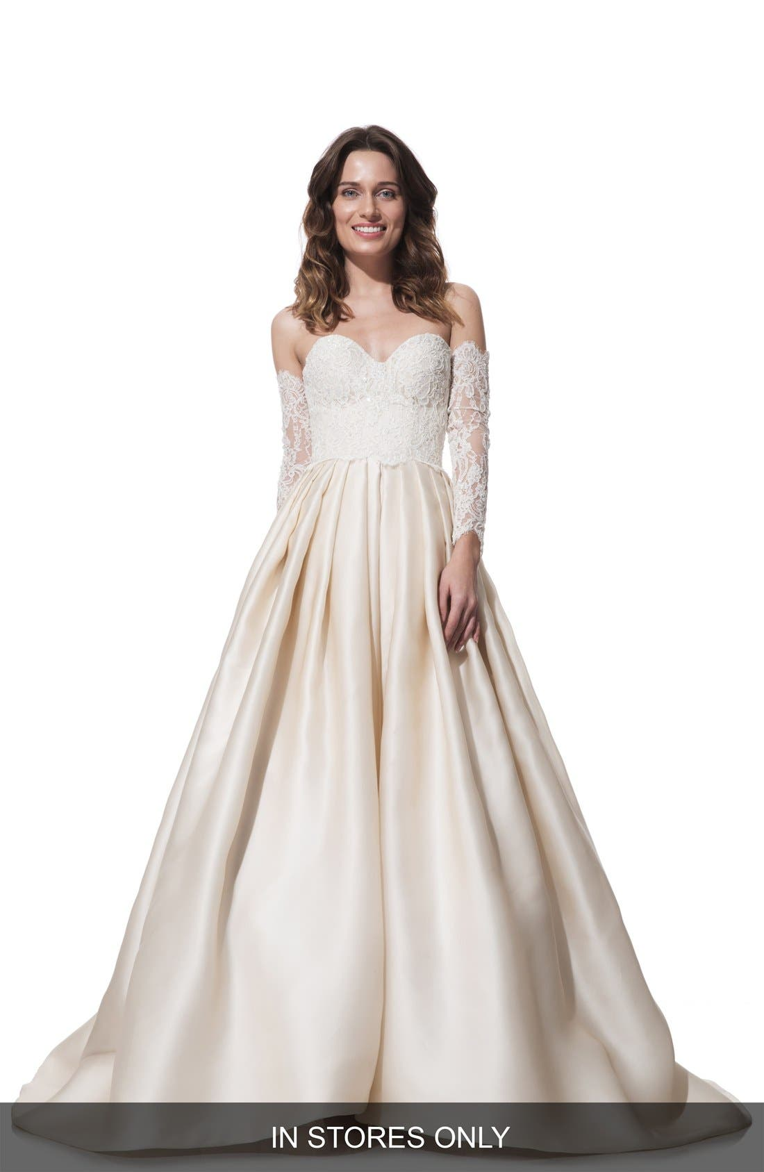 Clara Lace & Silk Organza Ballgown Dress,                         Main,                         color, 270