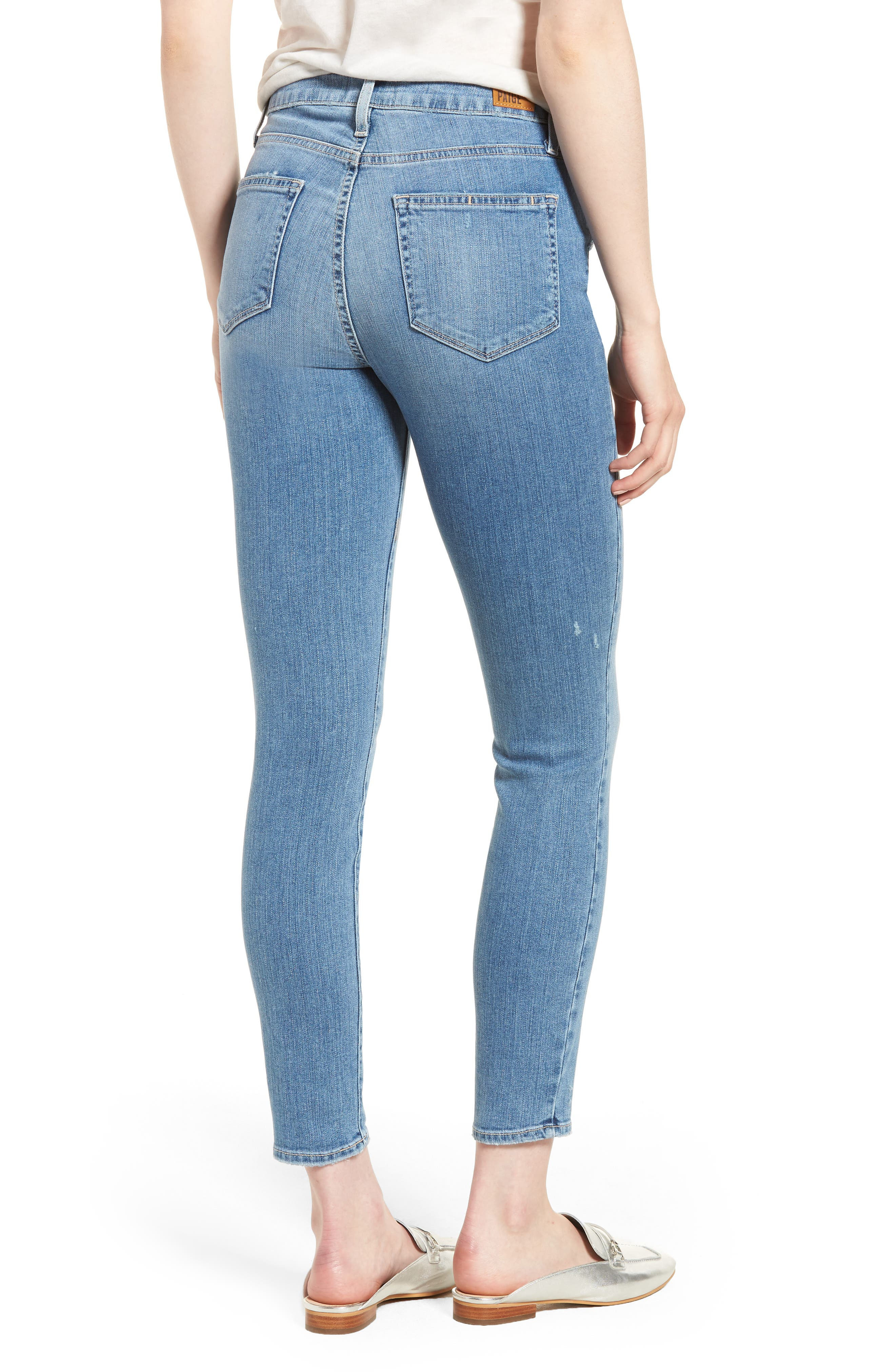 Hoxton Distressed Ankle Jeans,                             Alternate thumbnail 2, color,                             400