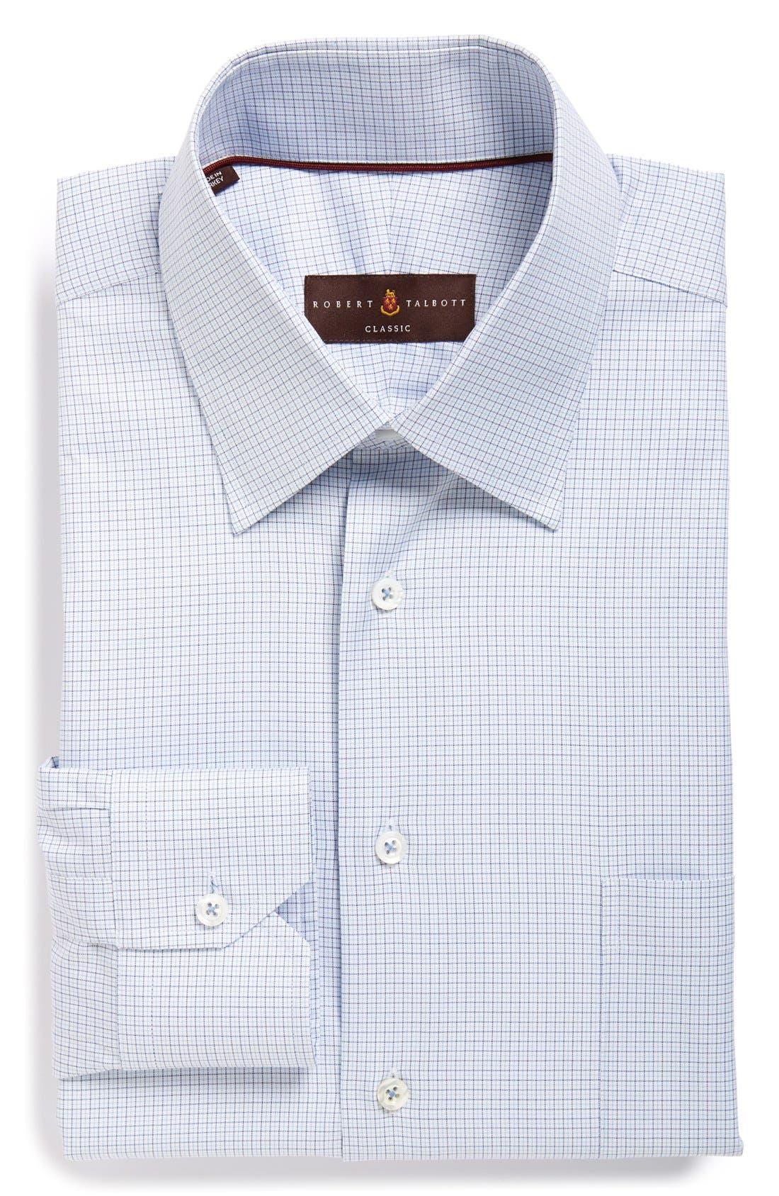 Classic Fit Check Dress Shirt,                             Main thumbnail 1, color,