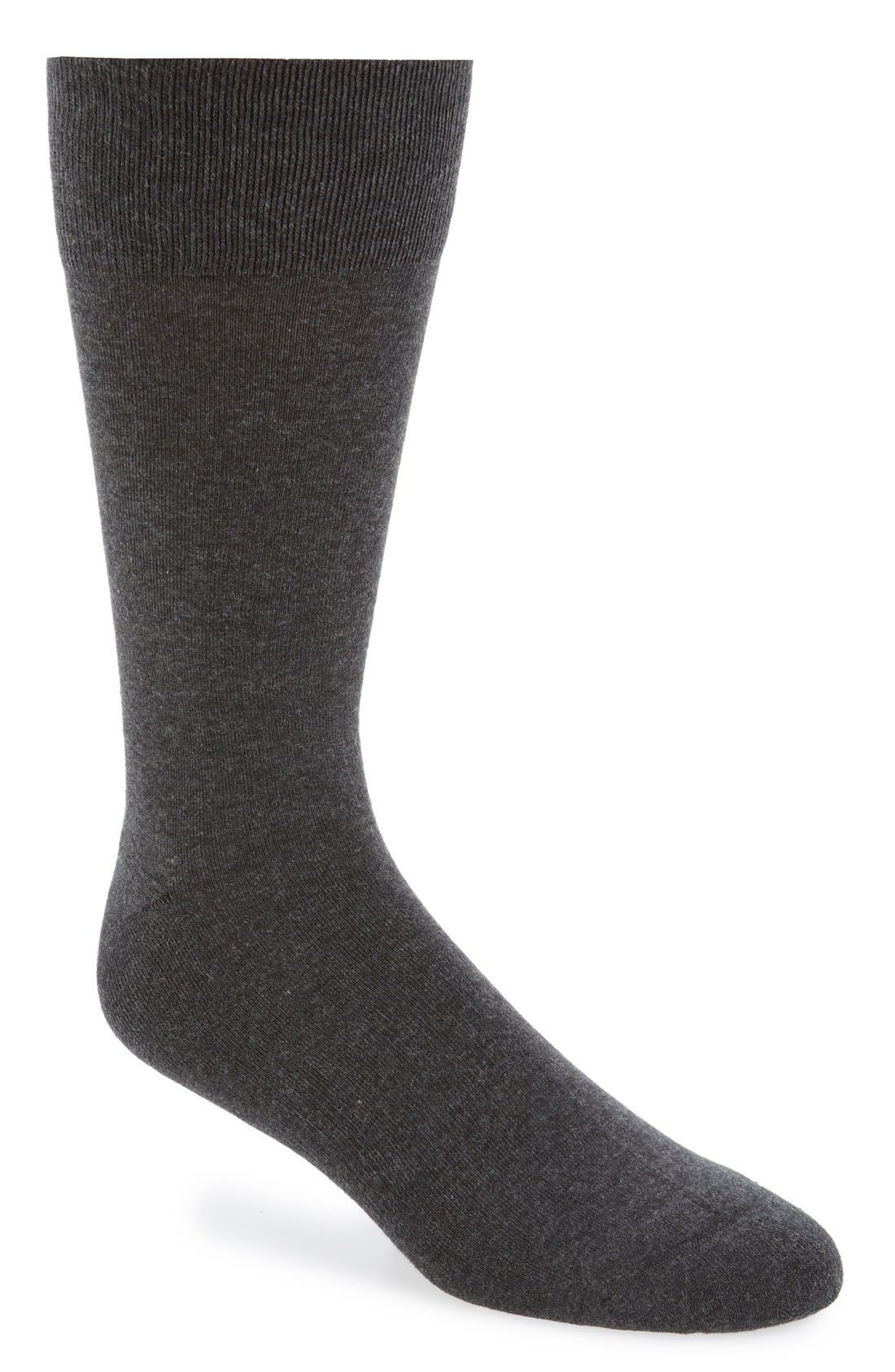 Cushion Foot Arch Support Socks,                             Main thumbnail 1, color,                             CHARCOAL HEATHER