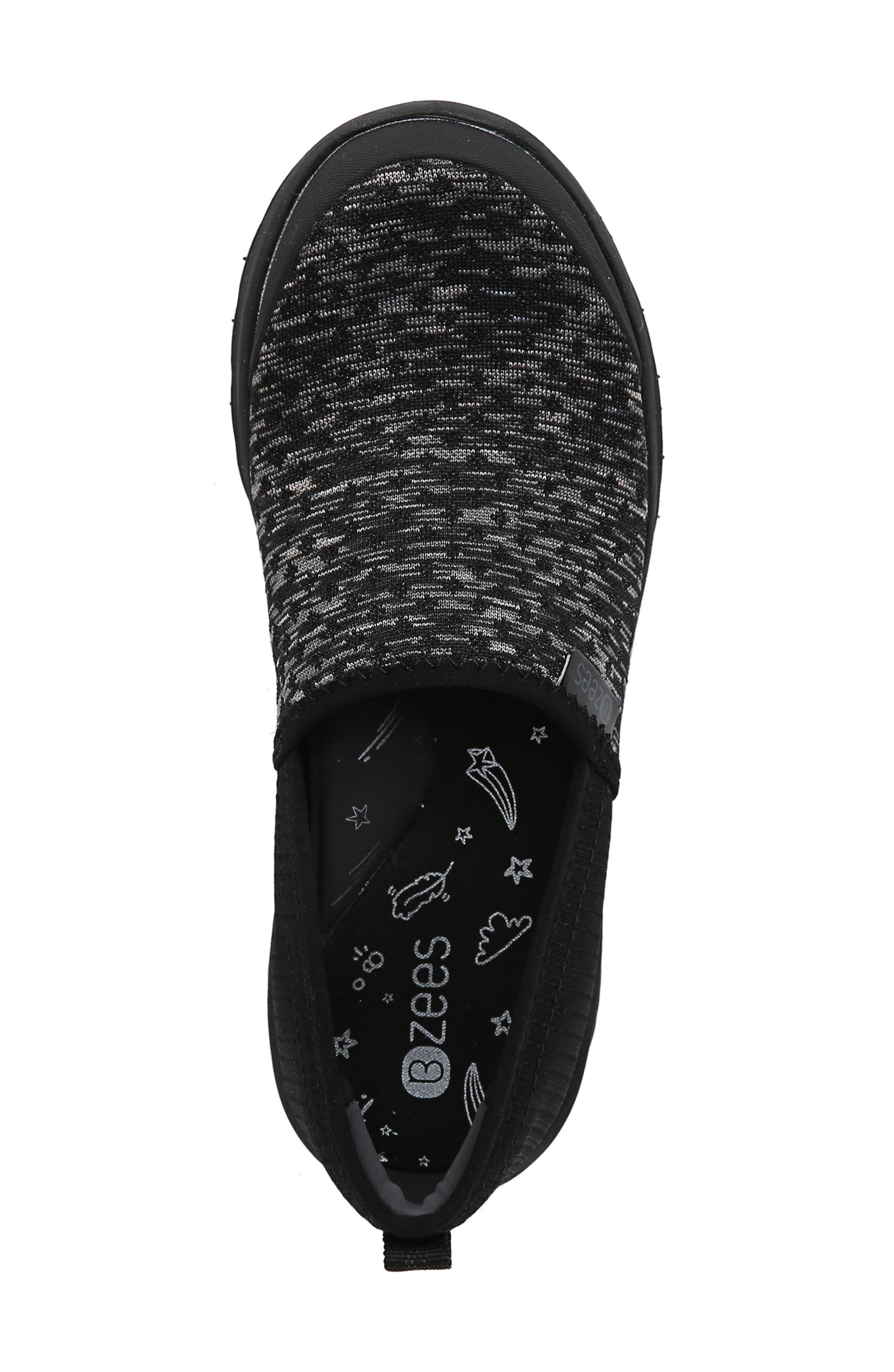 BZEES,                             Glee Slip-On Sneaker,                             Alternate thumbnail 5, color,                             BLACK DOT HEATHER FABRIC